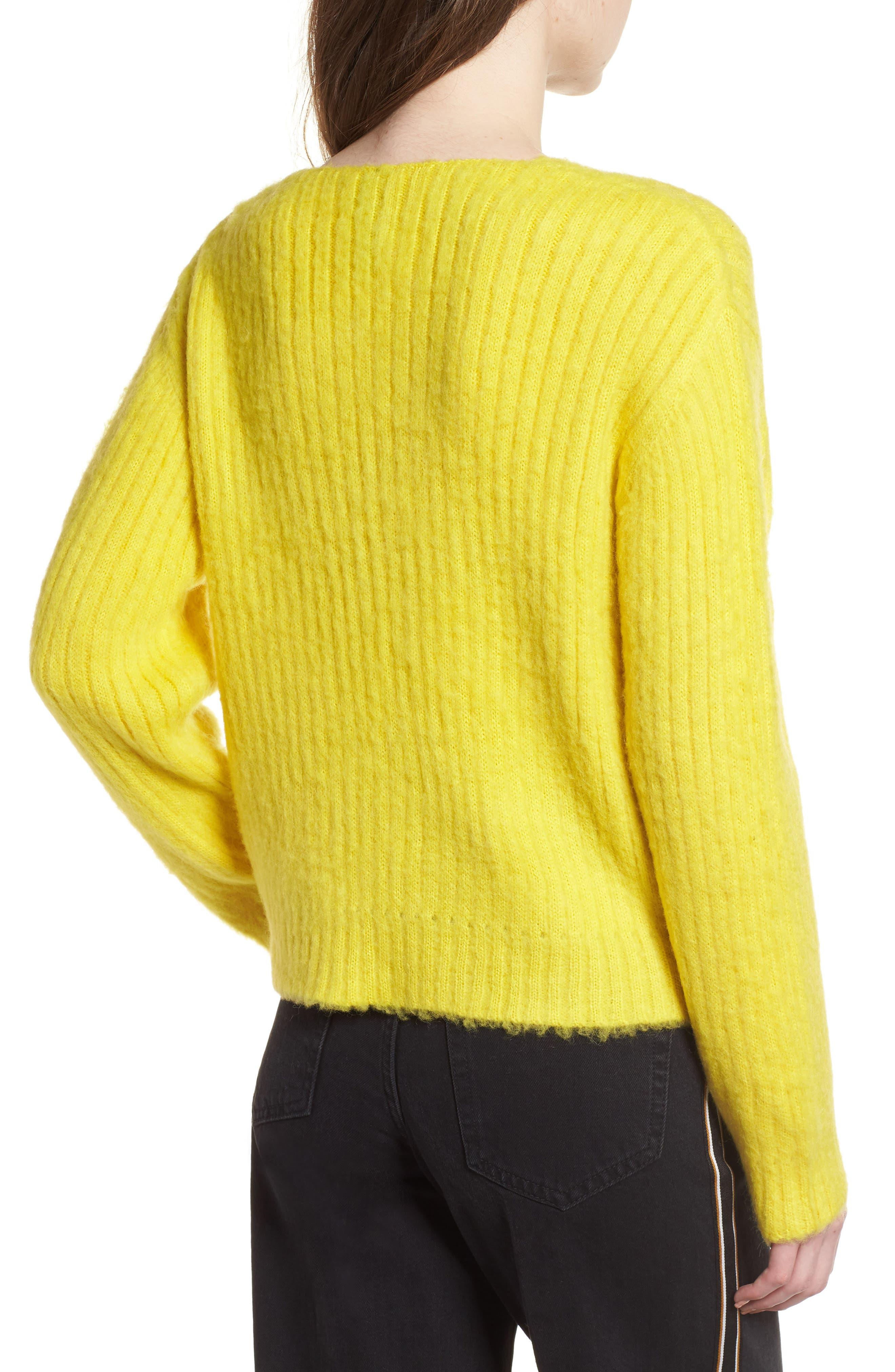 V-Neck Rib Sweater,                             Alternate thumbnail 2, color,                             700