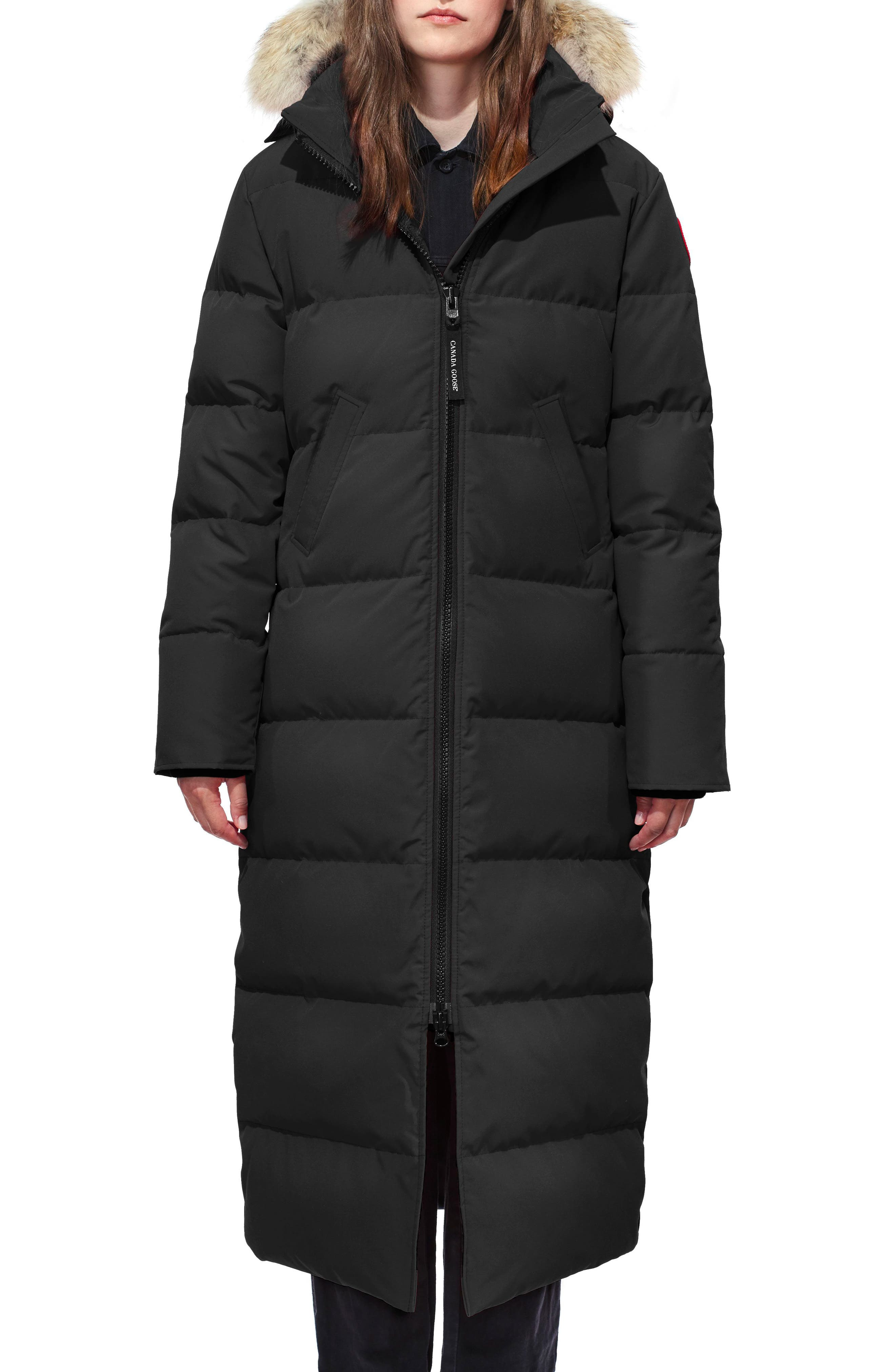 Canada Goose Mystique Regular Fit Down Parka With Genuine Coyote Fur Trim