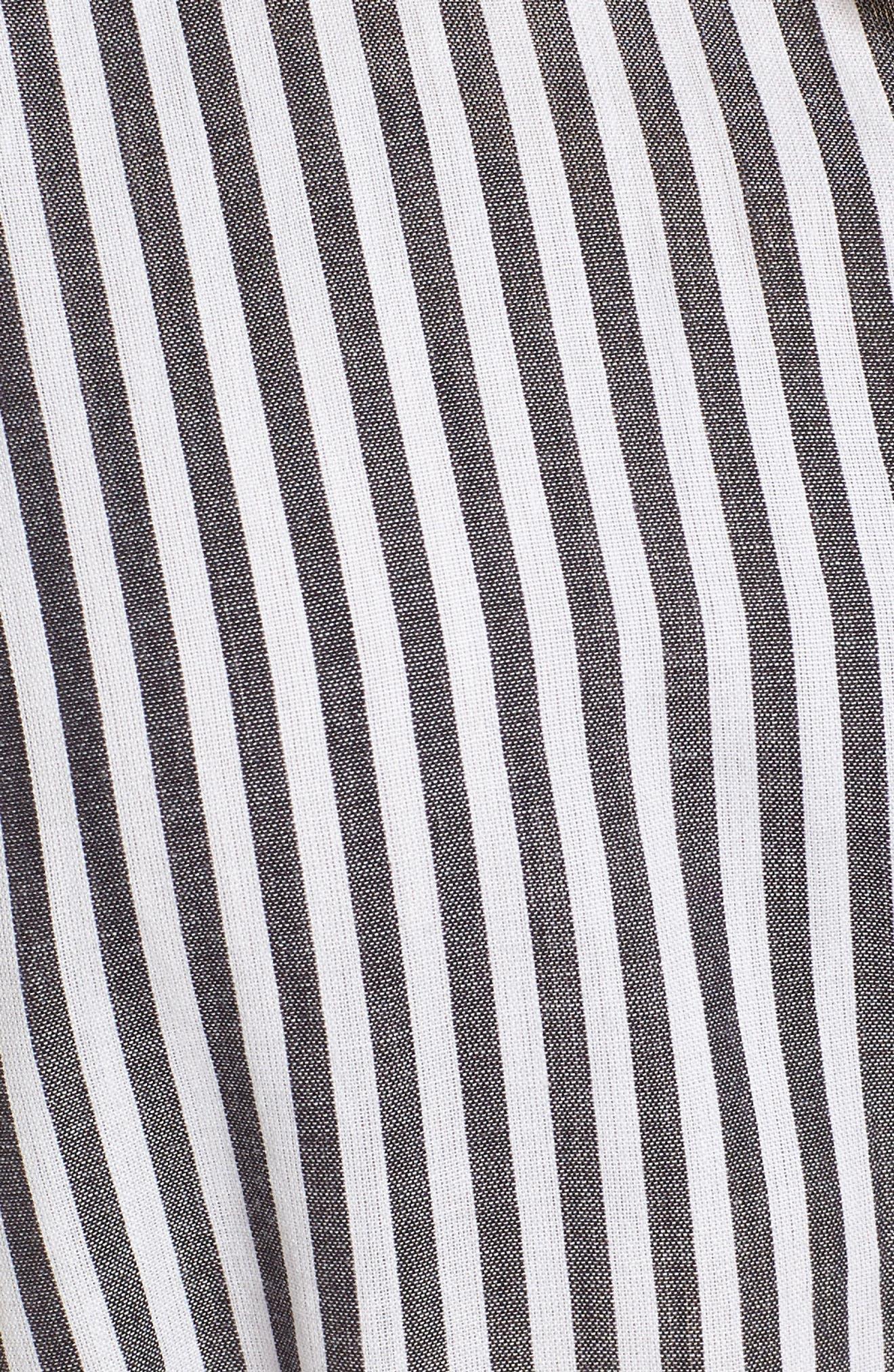 Stripe Belted Cotton Shirtdress,                             Alternate thumbnail 5, color,                             024