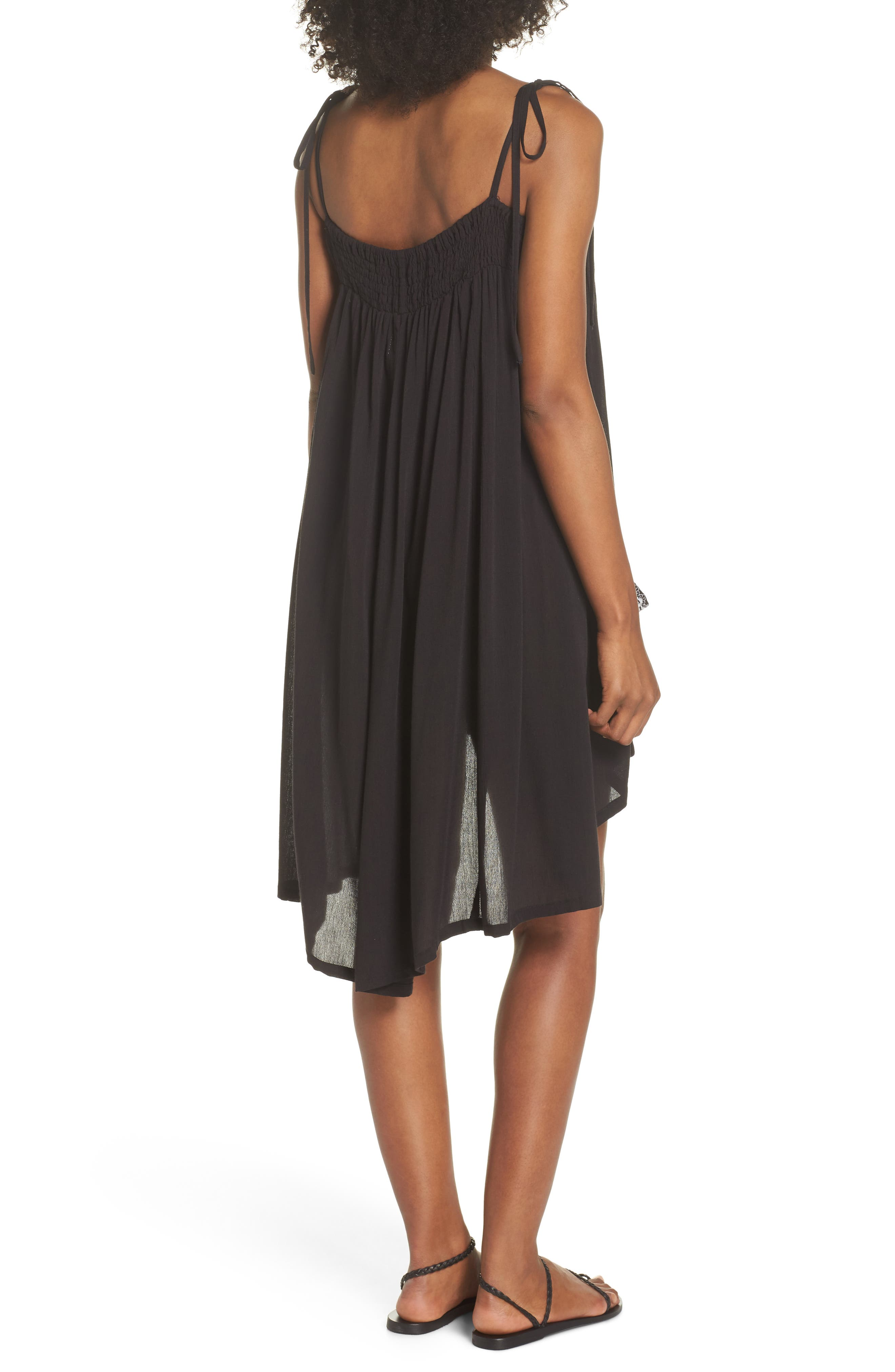 Olivia Cover-Up Dress,                             Alternate thumbnail 3, color,                             BLACK/ SILVER