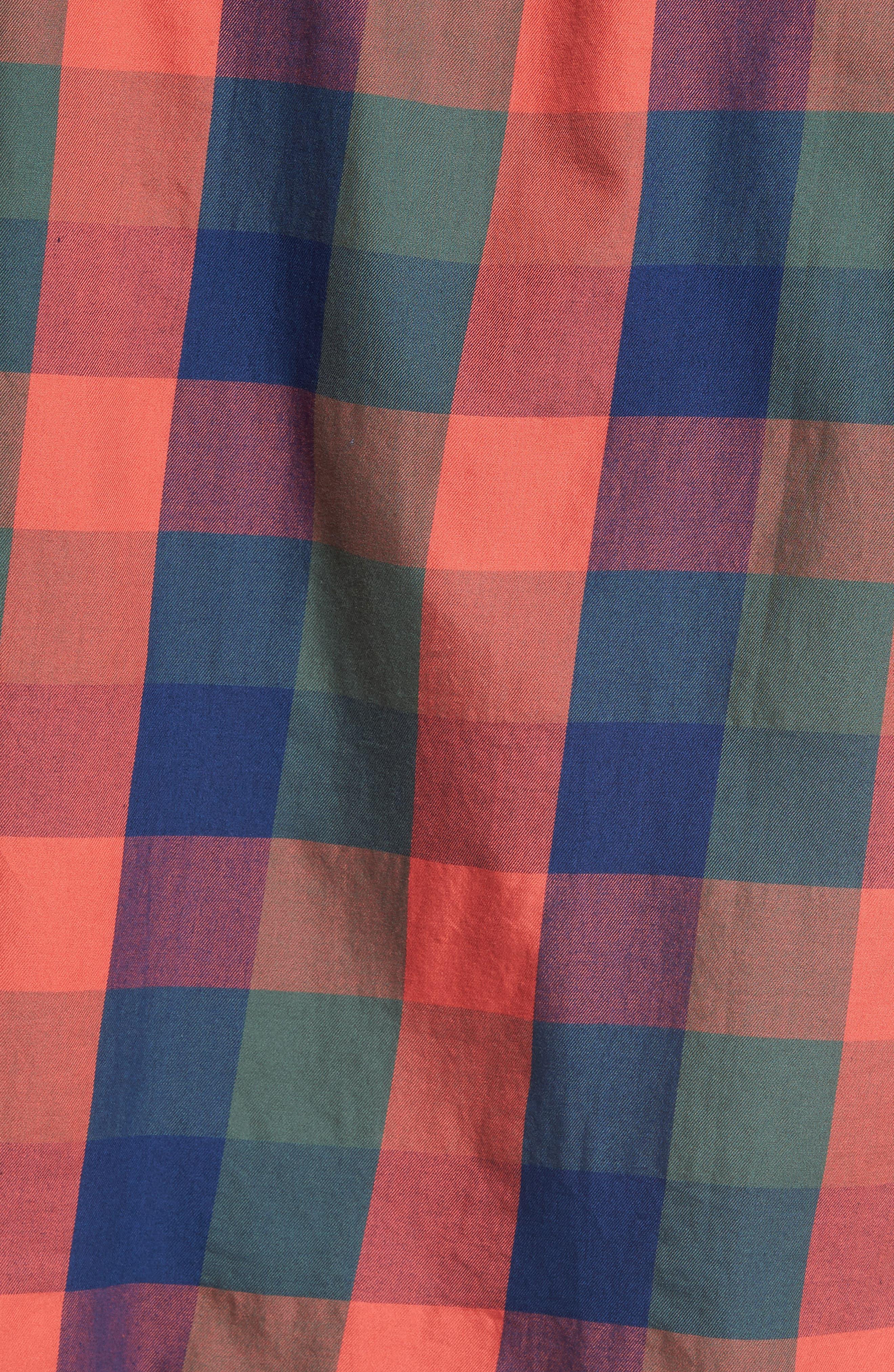 Trim Fit Plaid Sport Shirt,                             Alternate thumbnail 5, color,                             417