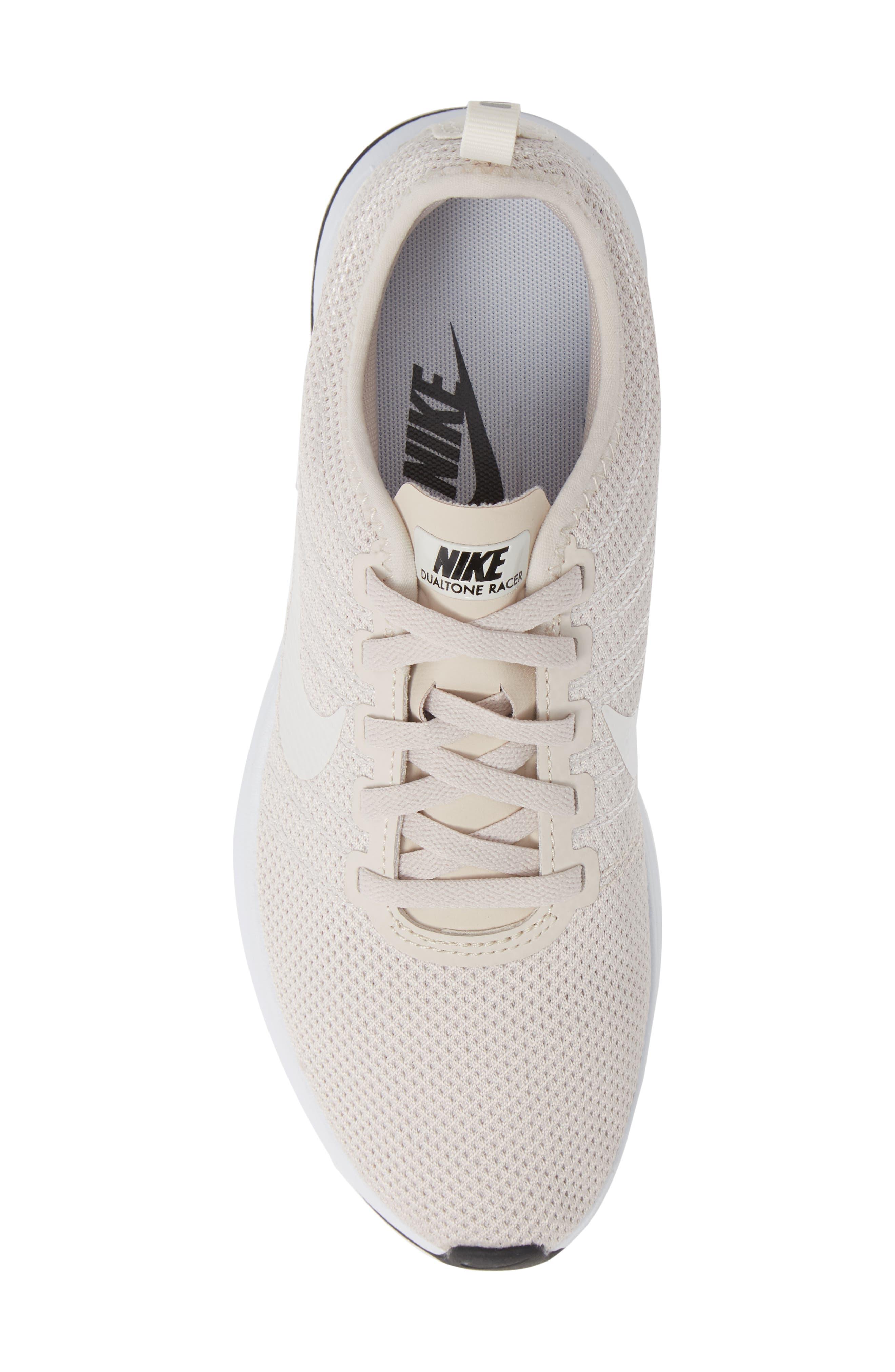 Dualtone Racer Running Shoe,                             Alternate thumbnail 5, color,                             SAND/ PHANTOM/ WHITE/ BLACK