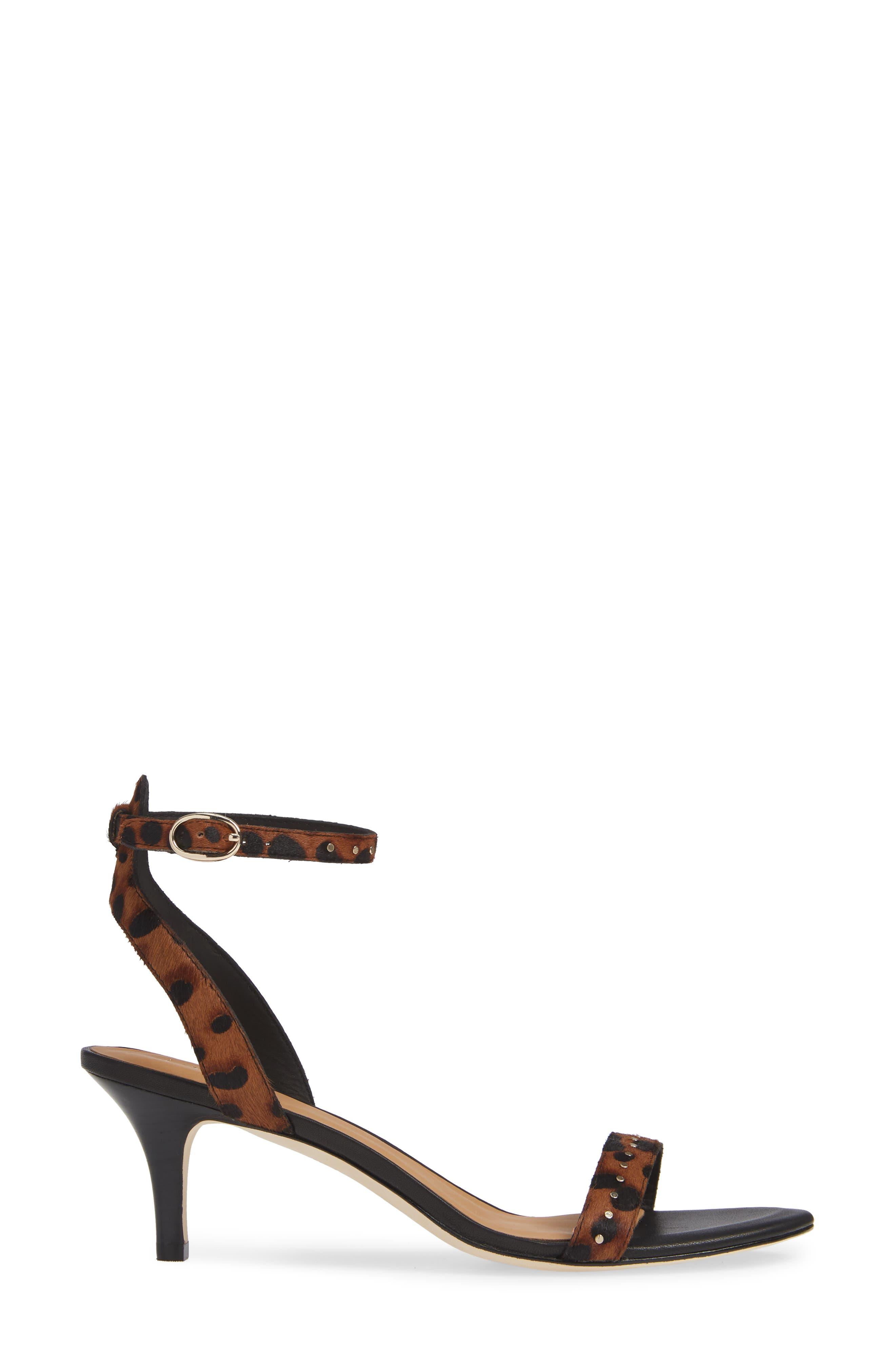 Malina Genuine Calf Hair Sandal,                             Alternate thumbnail 3, color,                             LEOPARD