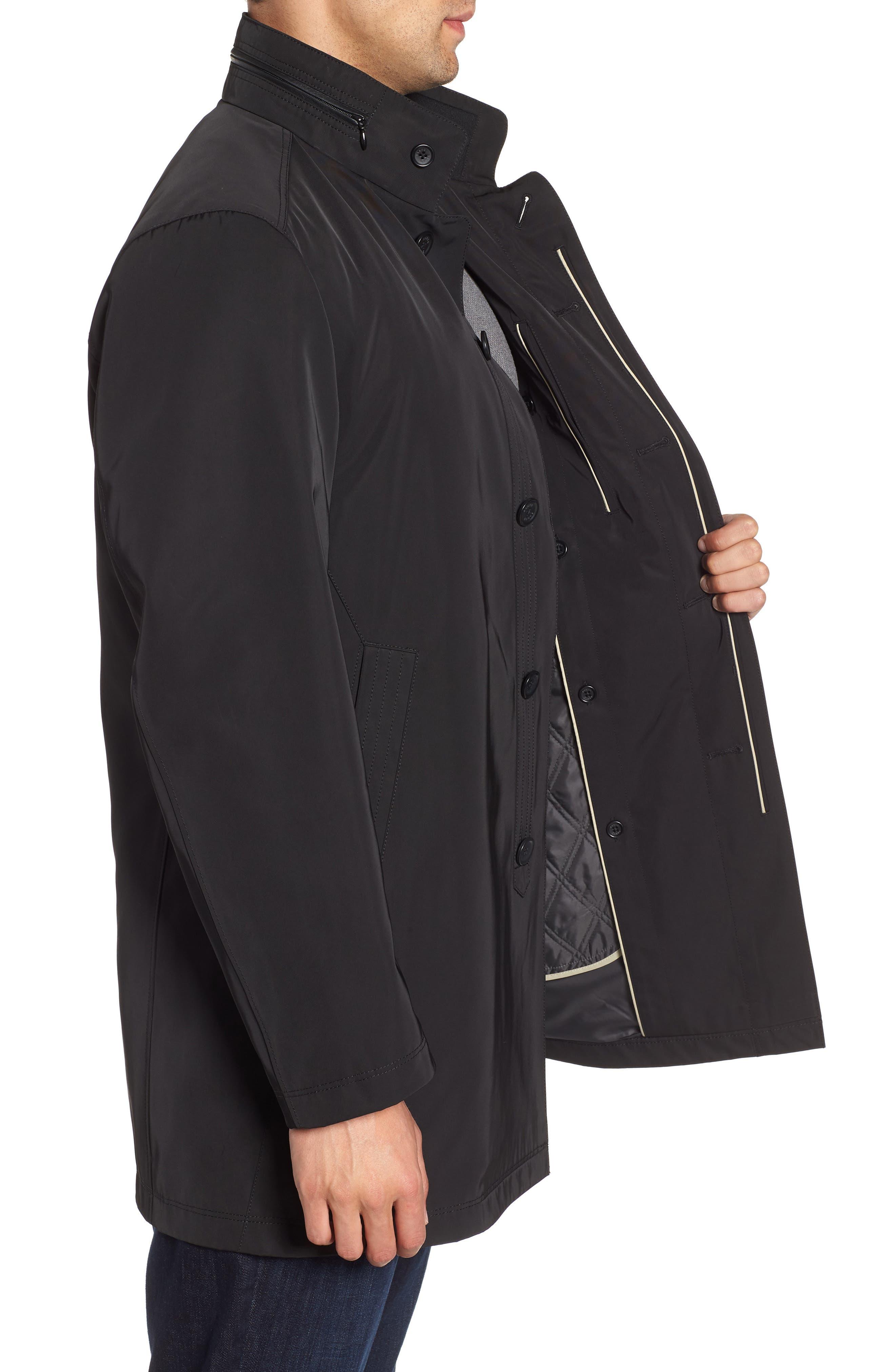 Hardy Getaway Raincoat,                             Alternate thumbnail 3, color,                             BLACK