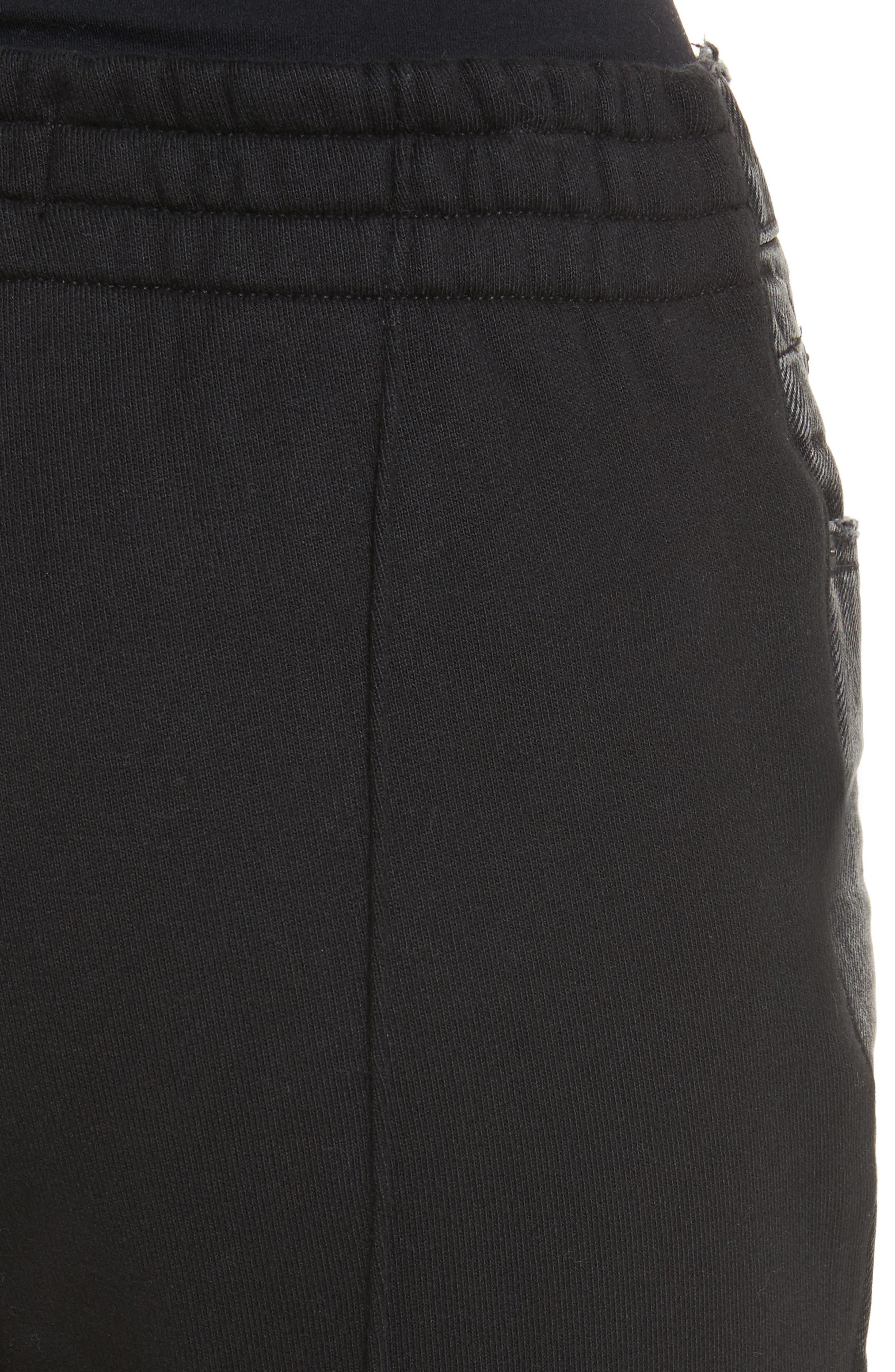 Denim x Alexander Wang Hybrid Sweatpants Jeans,                             Alternate thumbnail 4, color,                             025