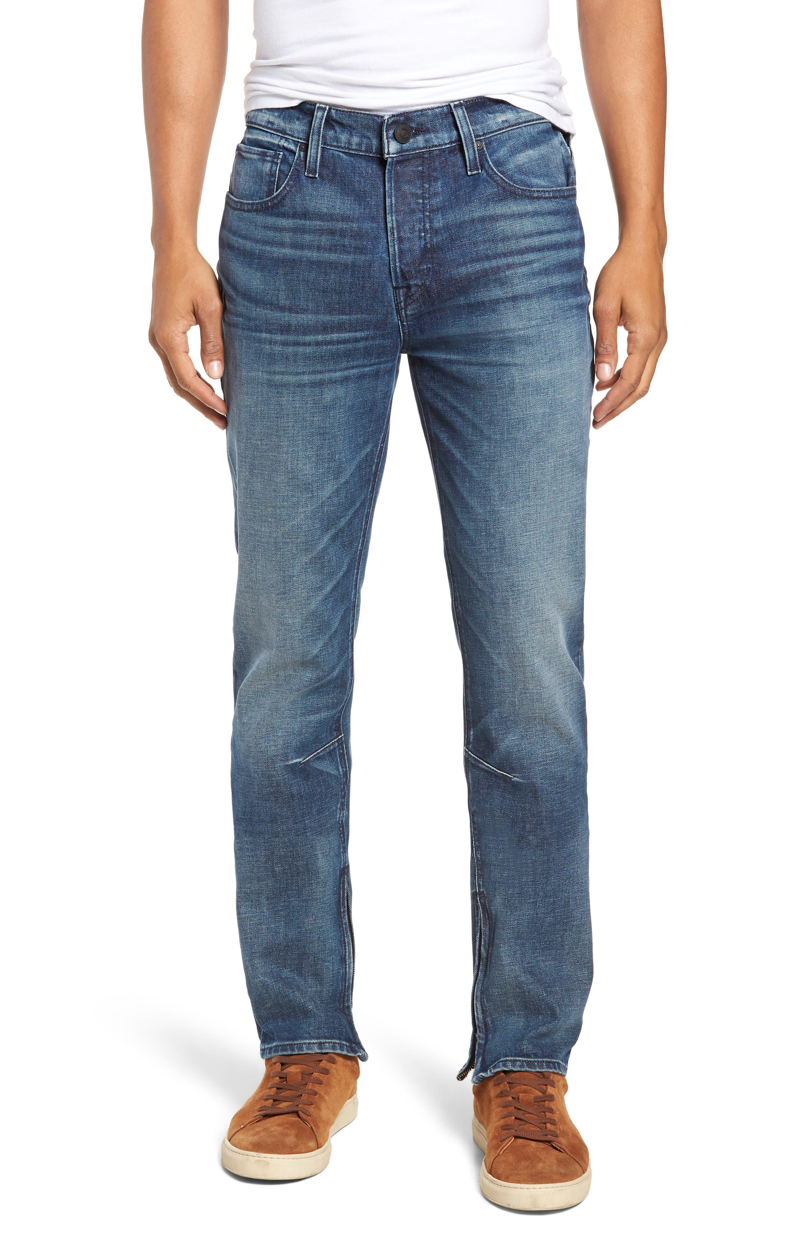 HUDSON Vaughn Ankle-Zip Skinny Fit Jeans In Franklin