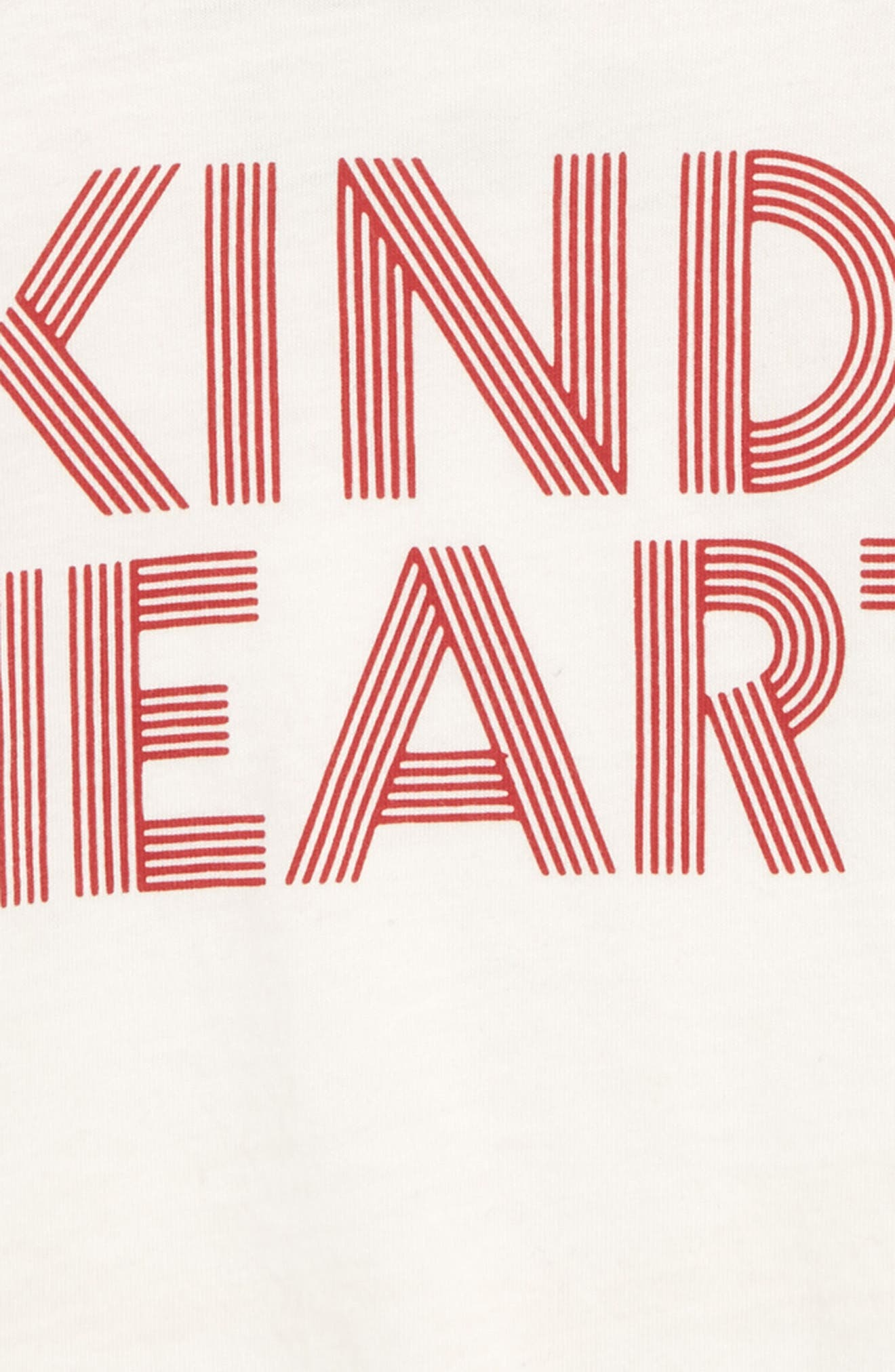 Kind Heart Graphic Baseball T-Shirt,                             Alternate thumbnail 2, color,                             IVORY