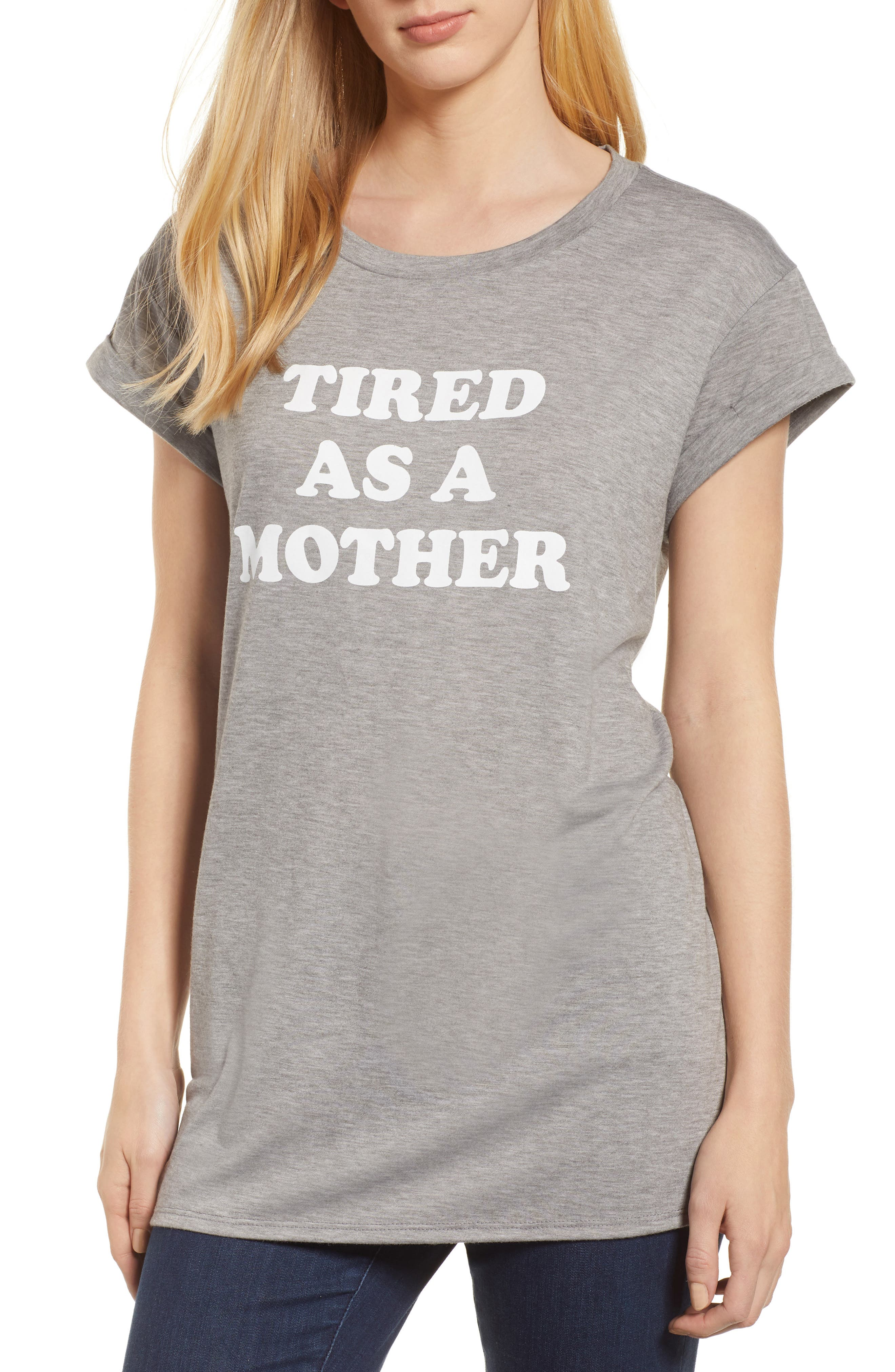 Off-Duty Mother Tee,                             Main thumbnail 1, color,                             030