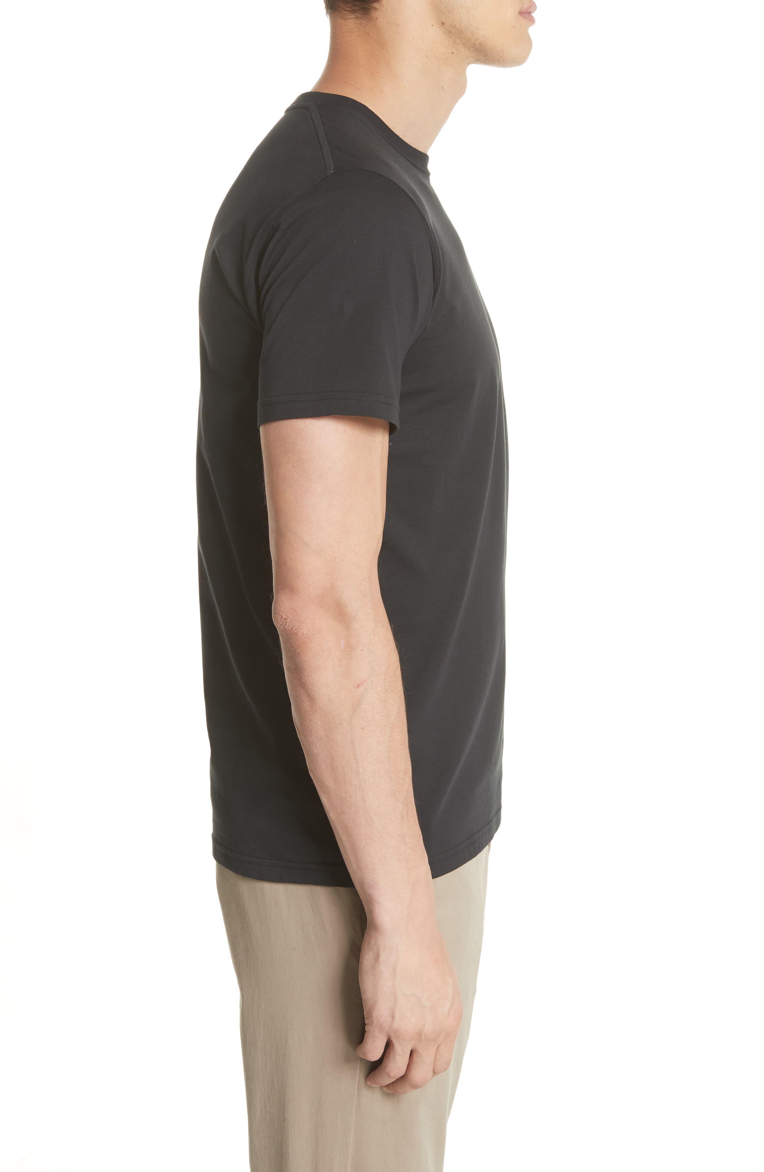 Niels Crewneck T-Shirt,                             Alternate thumbnail 3, color,                             001