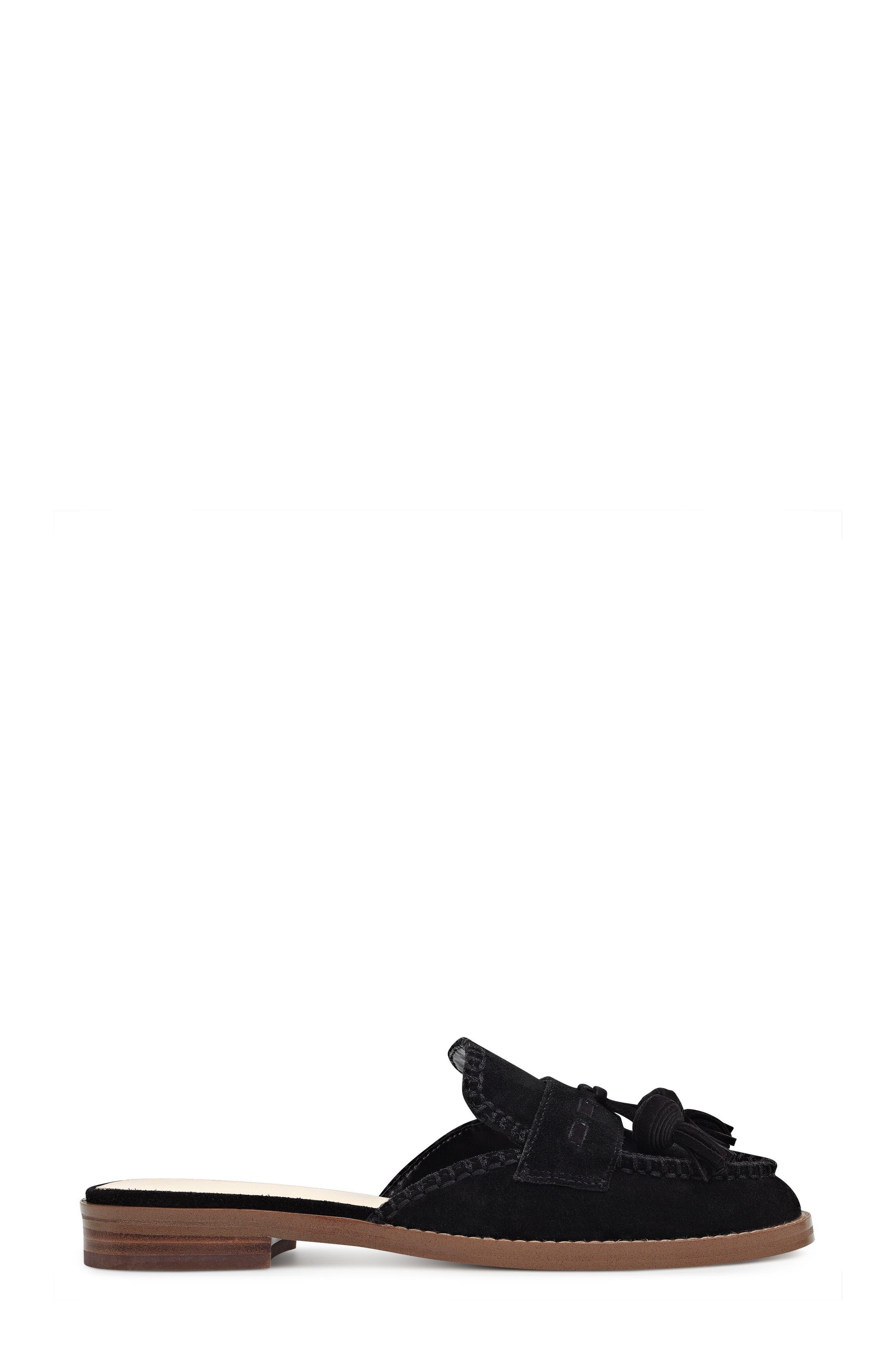 Vesuvio Tassel Loafer Mule,                             Alternate thumbnail 3, color,                             001