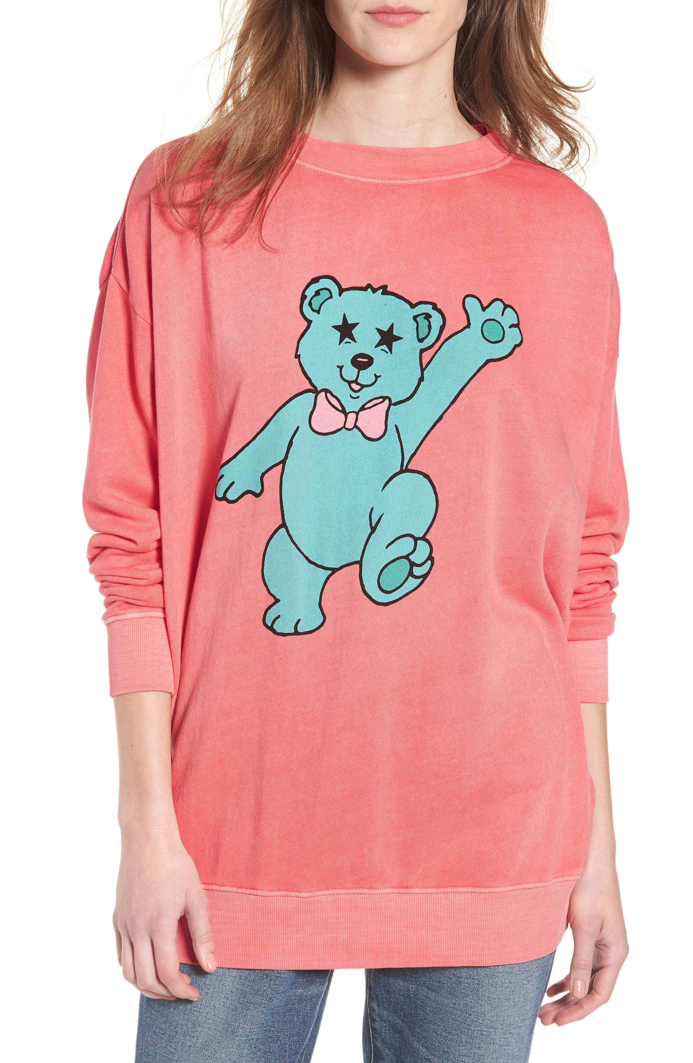 Groovy Teddy Road Trip Pullover Sweatshirt,                             Main thumbnail 1, color,                             640