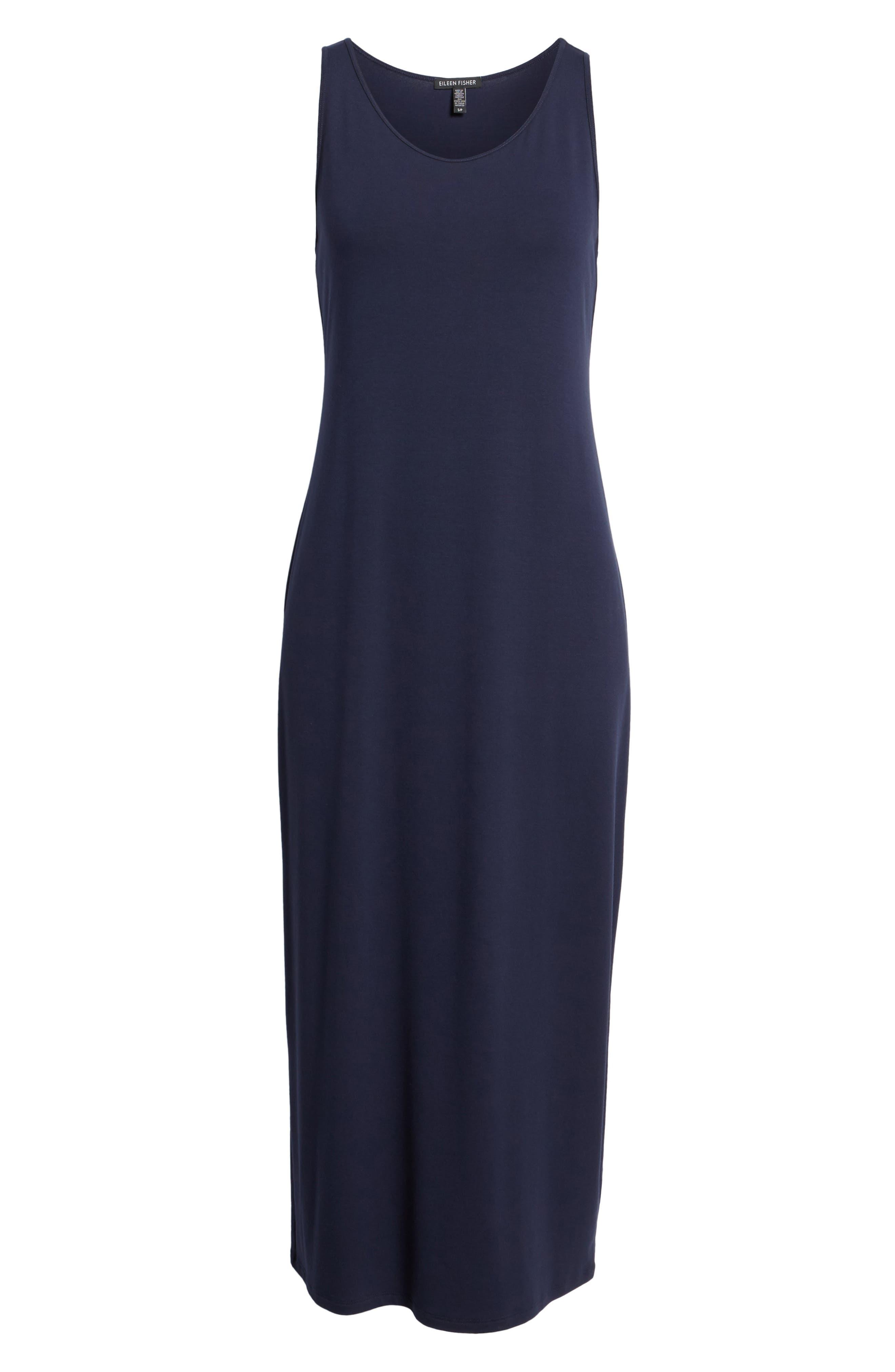 Midi Tank Dress,                             Alternate thumbnail 7, color,                             MIDNIGHT