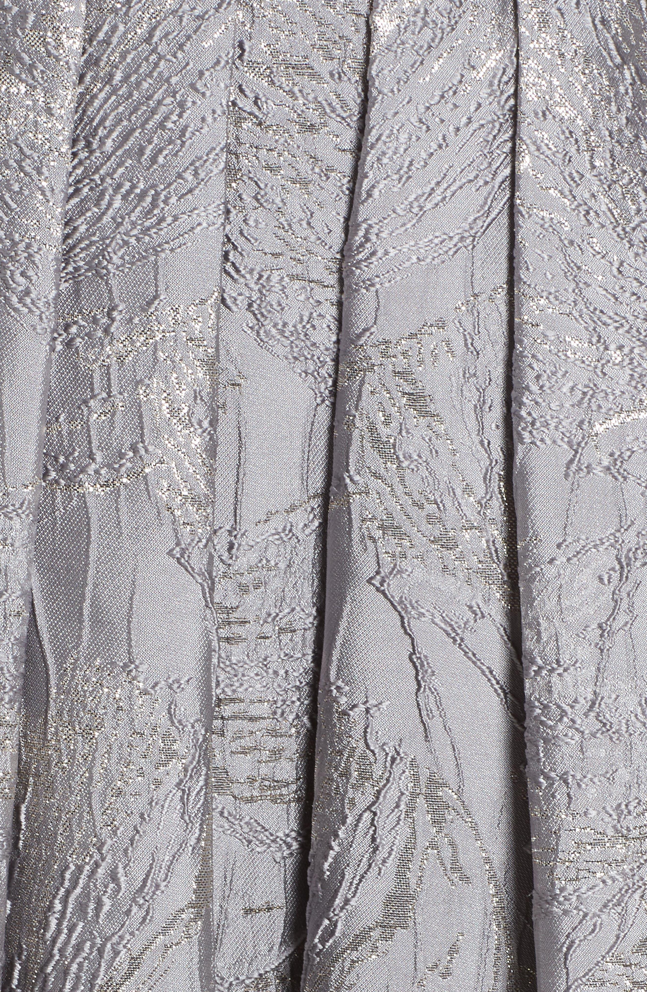 Embellished Brocade Ballgown,                             Alternate thumbnail 5, color,                             040