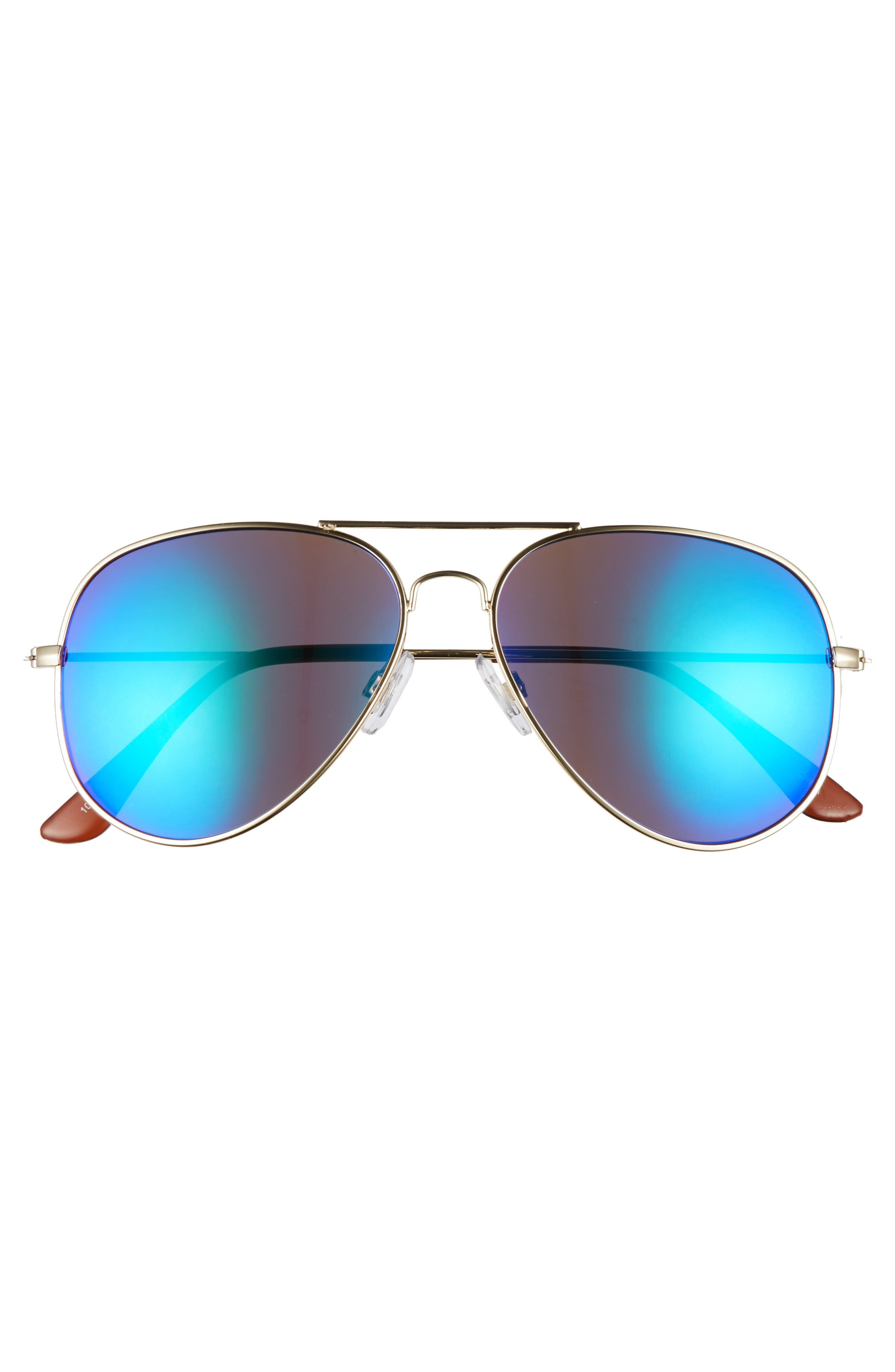 Mirrored Aviator 57mm Sunglasses,                             Alternate thumbnail 30, color,