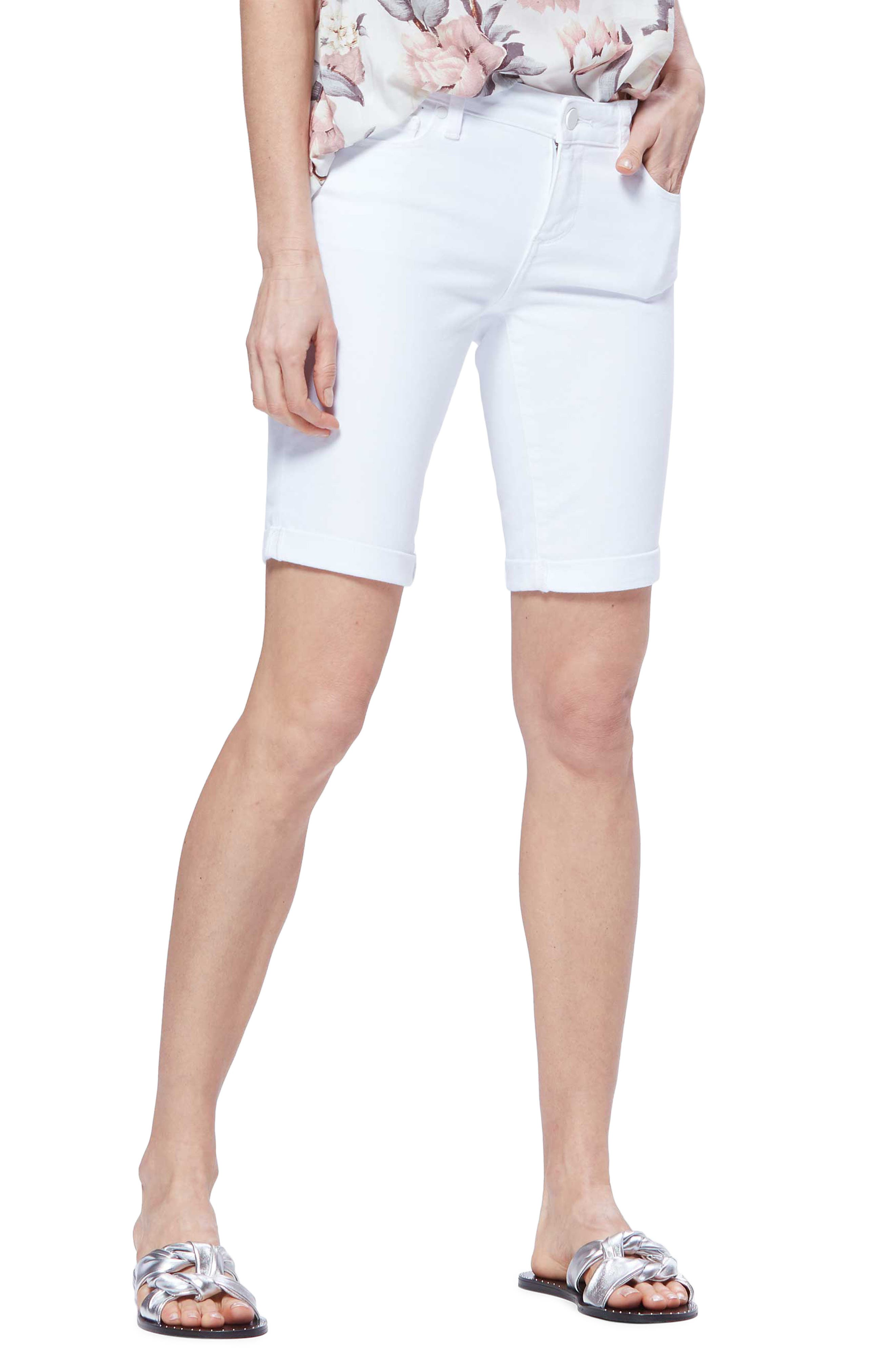 PAIGE Jax Denim Bermuda Shorts, Main, color, CRISP WHITE