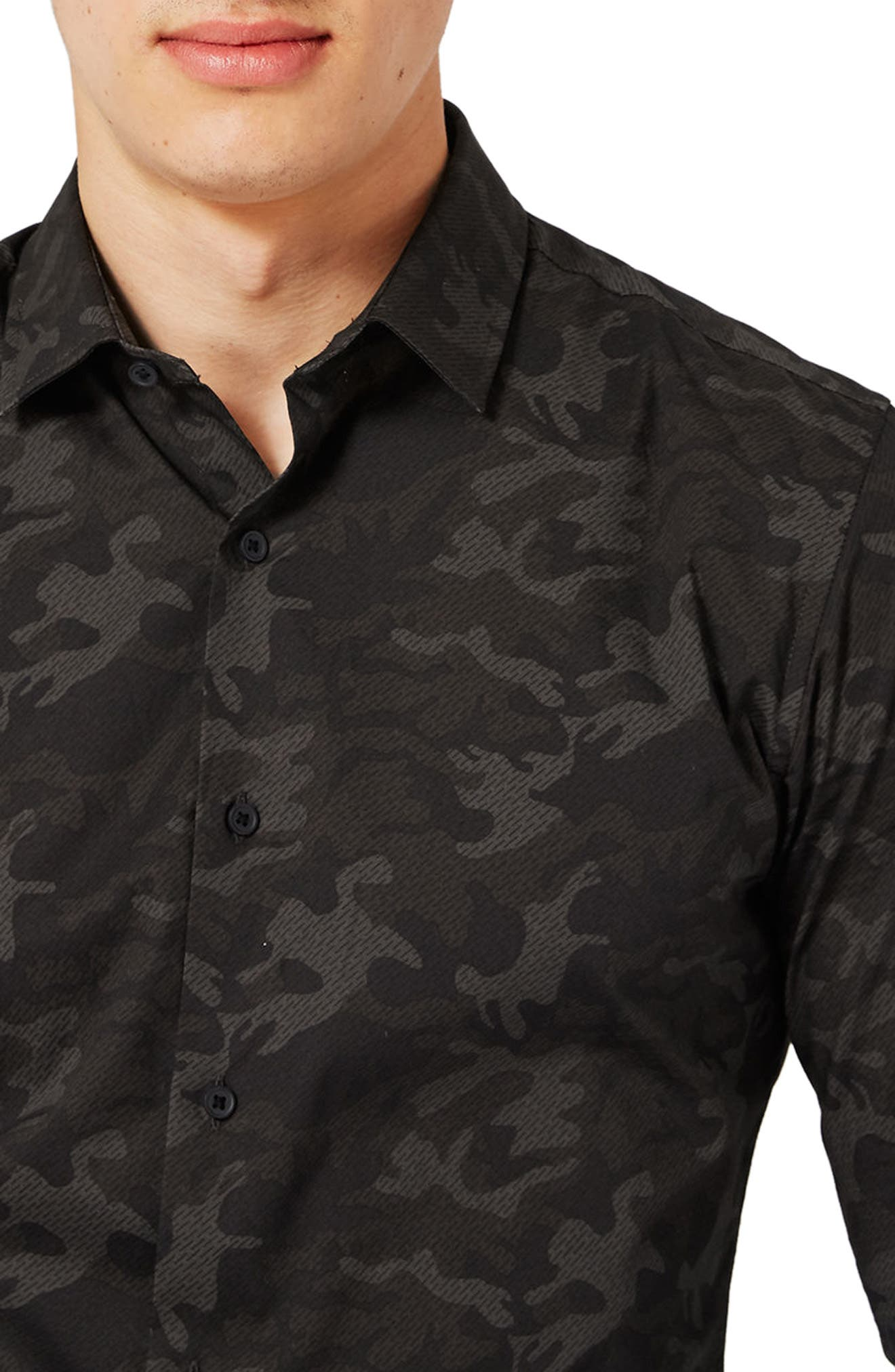 Camo Print Dress Shirt,                             Alternate thumbnail 3, color,                             301
