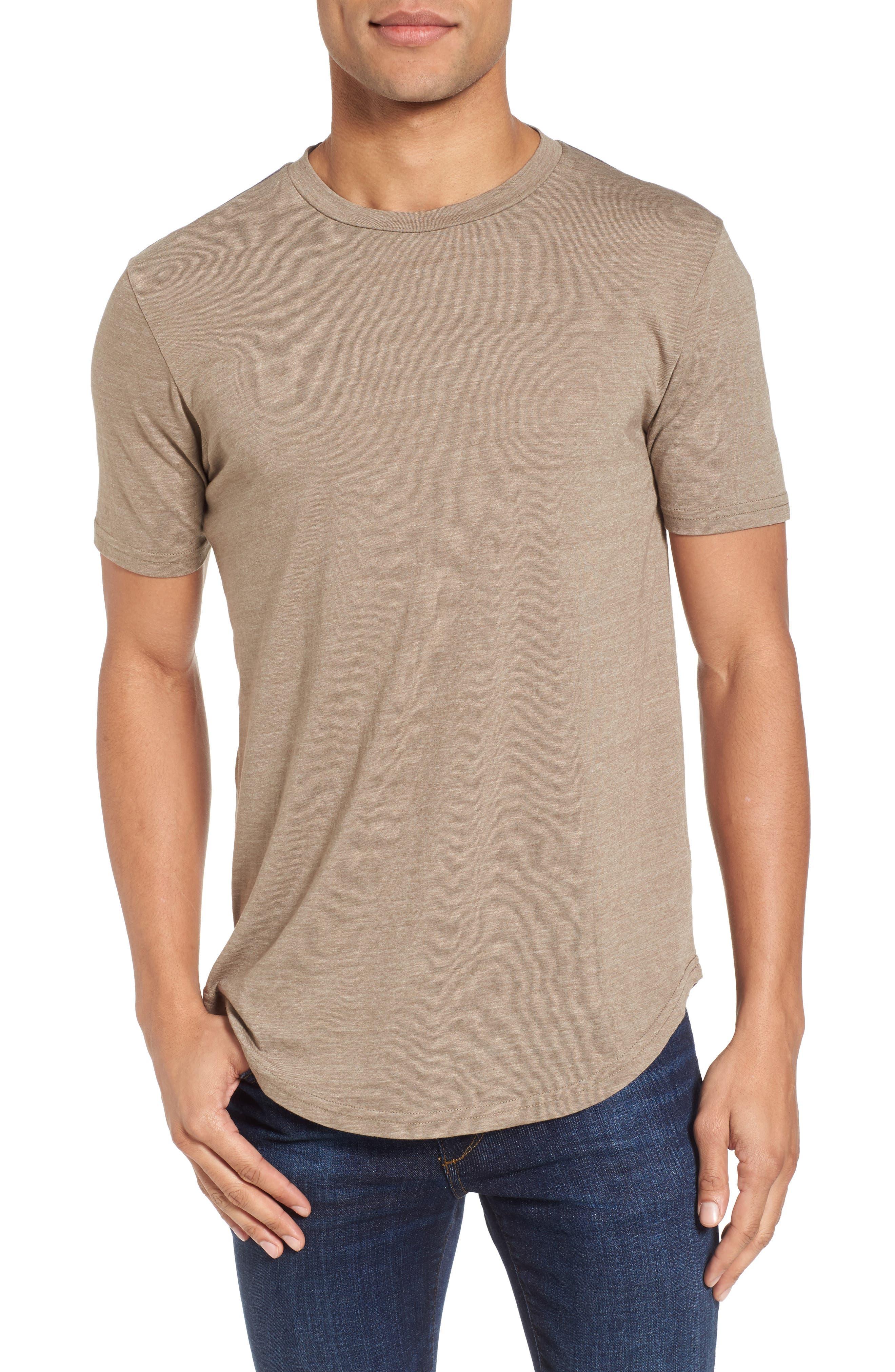 Scallop Triblend Crewneck T-Shirt,                             Main thumbnail 3, color,