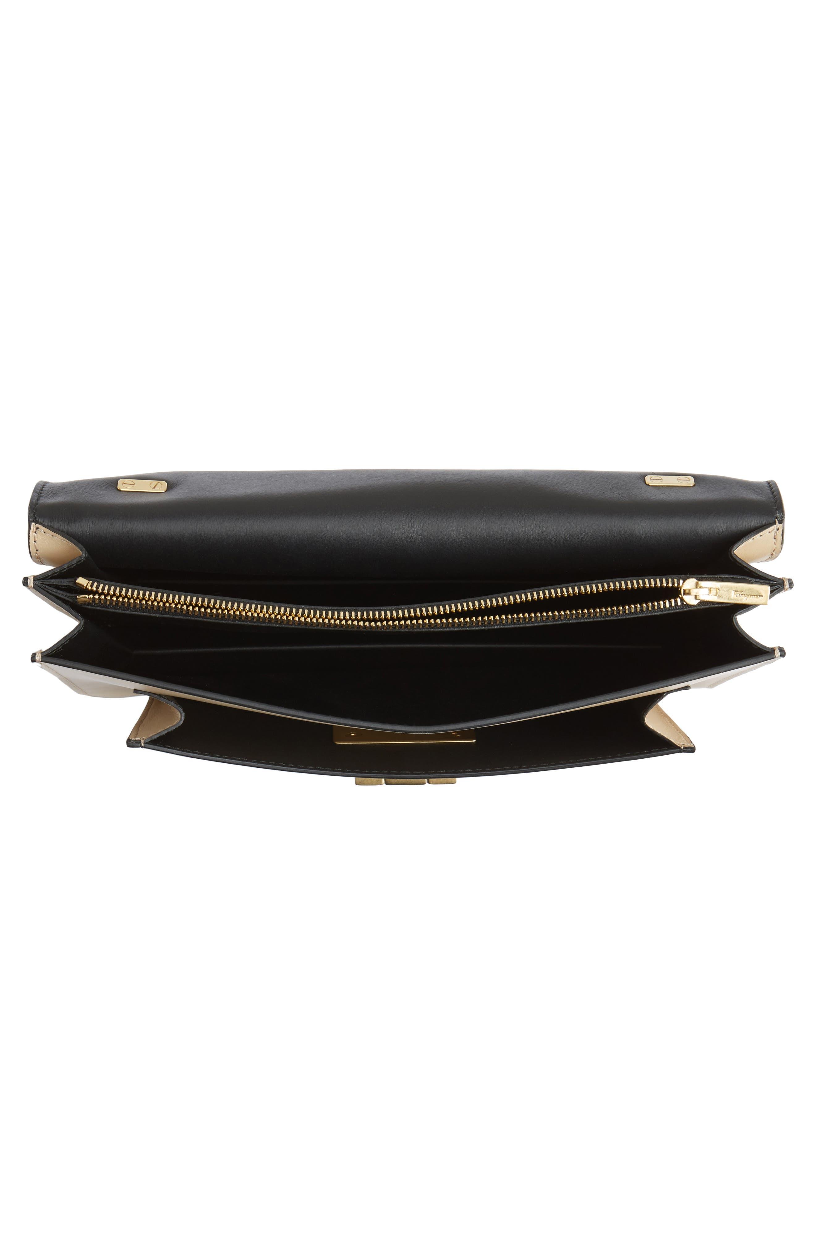 SALVATORE FERRAGAMO,                             Stingray Leather Shoulder Bag,                             Alternate thumbnail 4, color,                             974