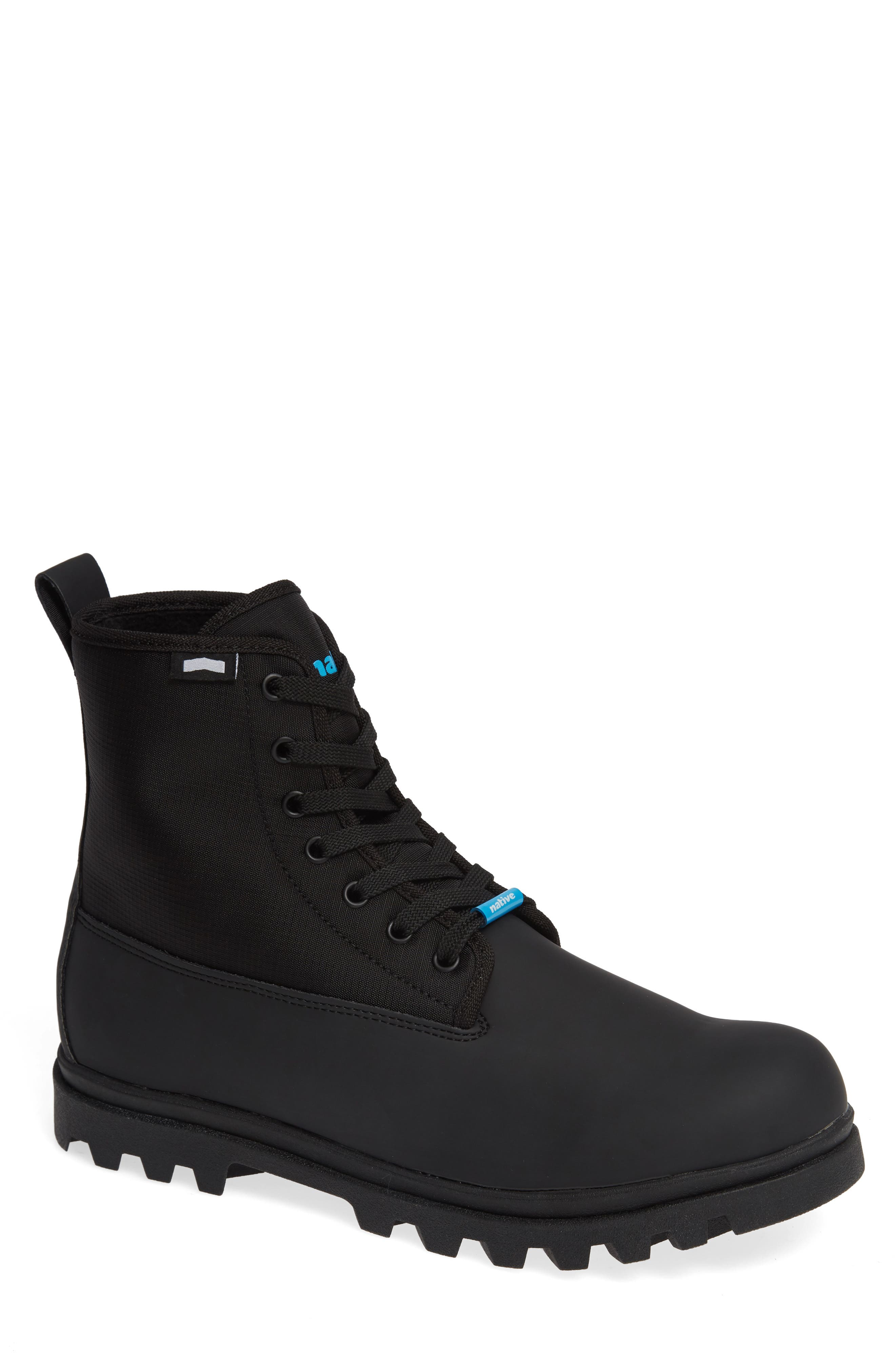 Native Johnny Treklite Water Repellent Boot,                         Main,                         color, JIFFY BLACK/ JIFFY BLACK