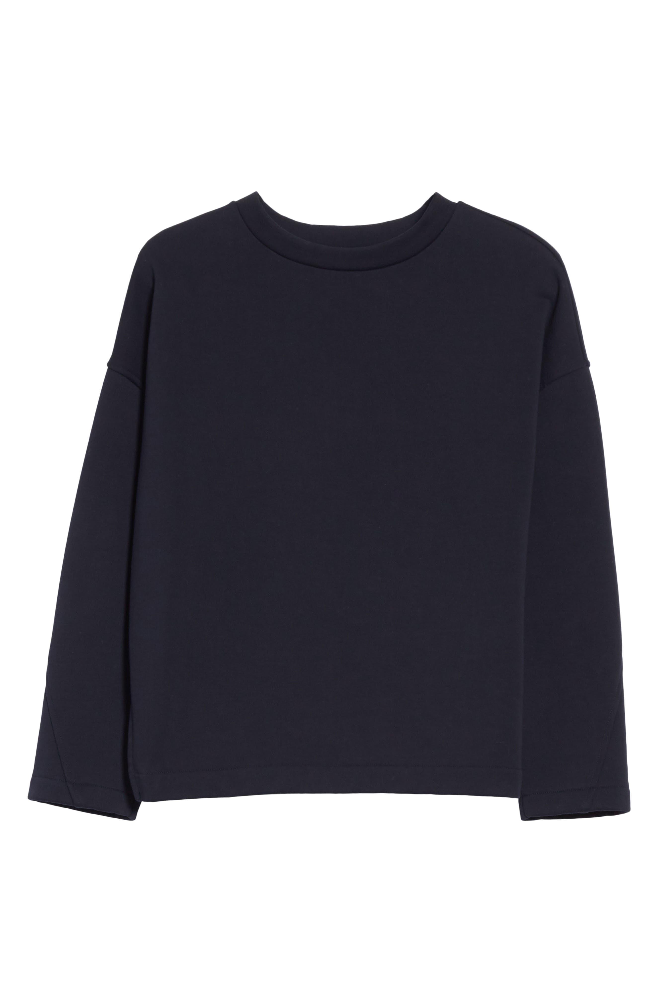 Mock Neck Sweatshirt,                             Alternate thumbnail 12, color,