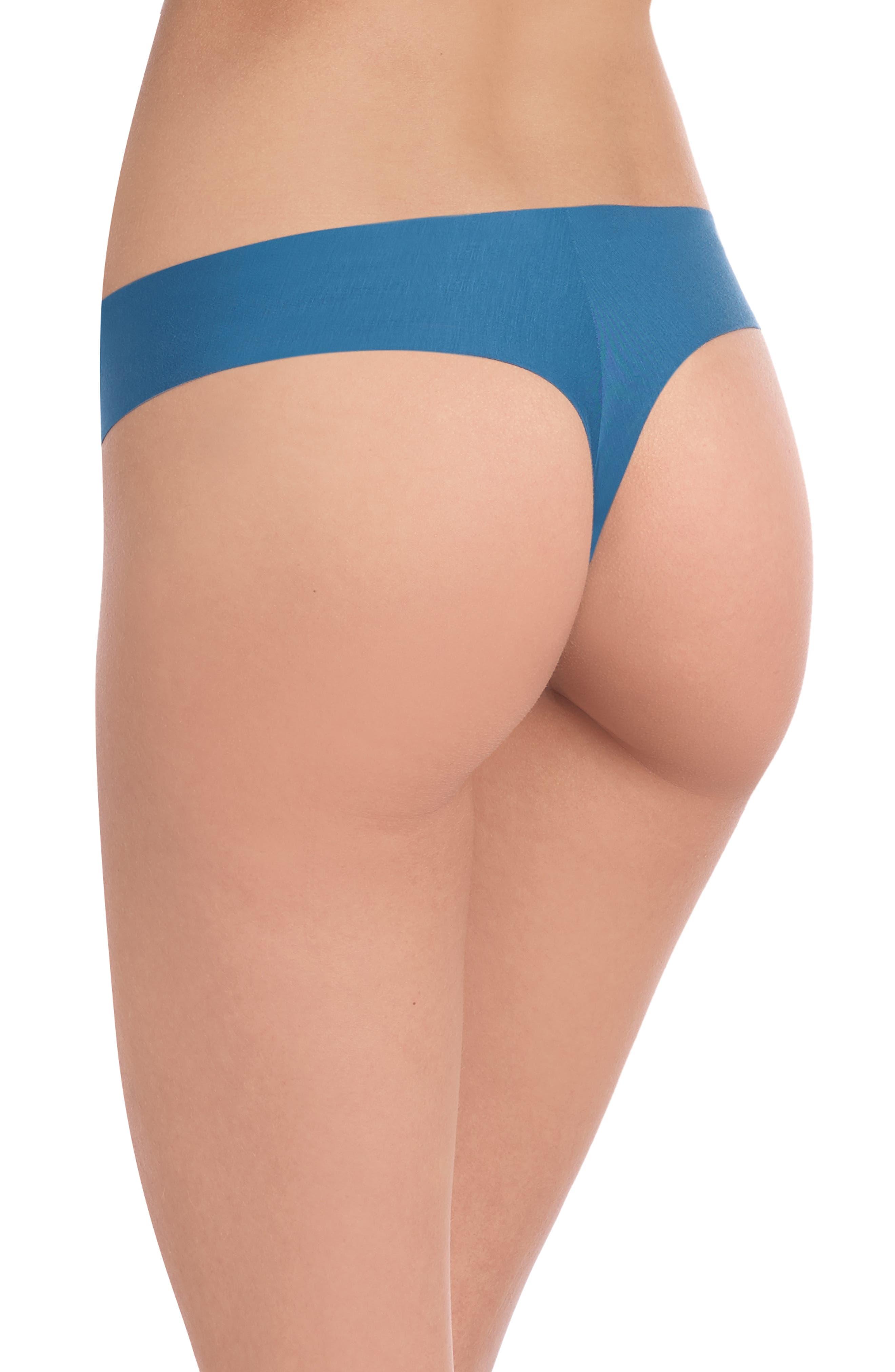 'Butter' Stretch Modal Thong,                             Alternate thumbnail 2, color,                             THAI BLUE