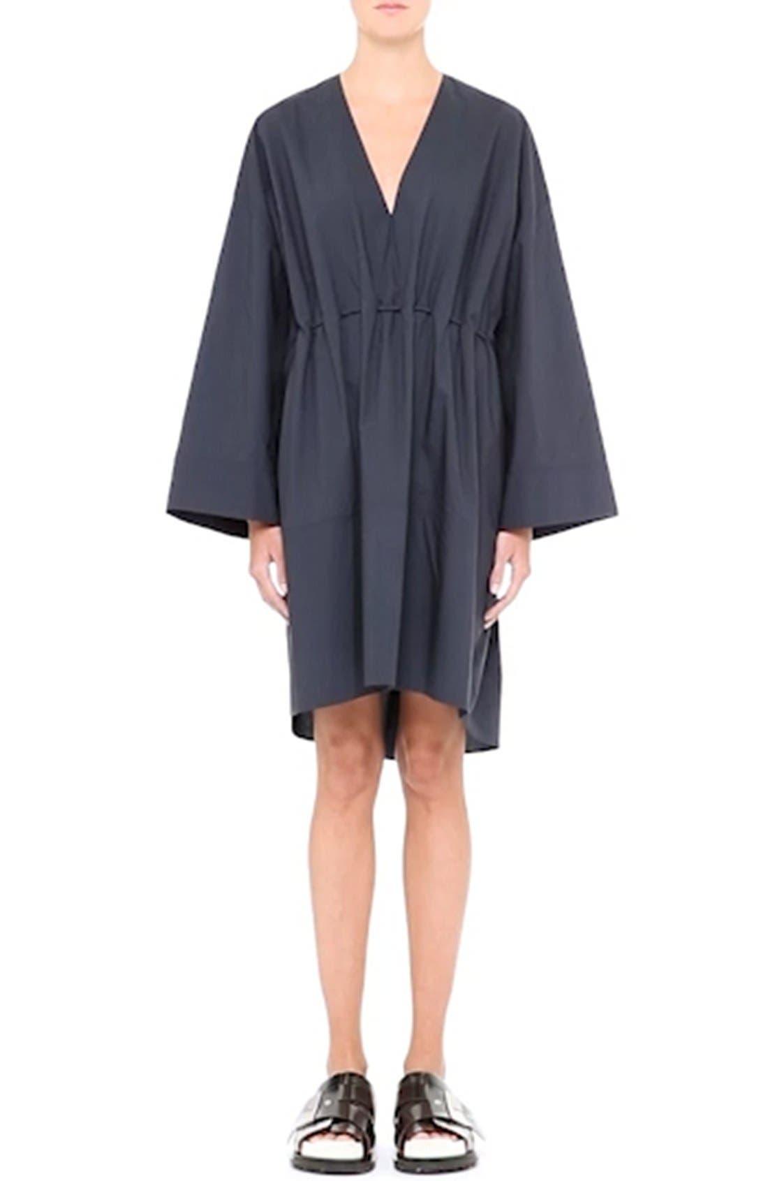 Calida Cotton Drawstring Dress,                             Alternate thumbnail 6, color,                             001