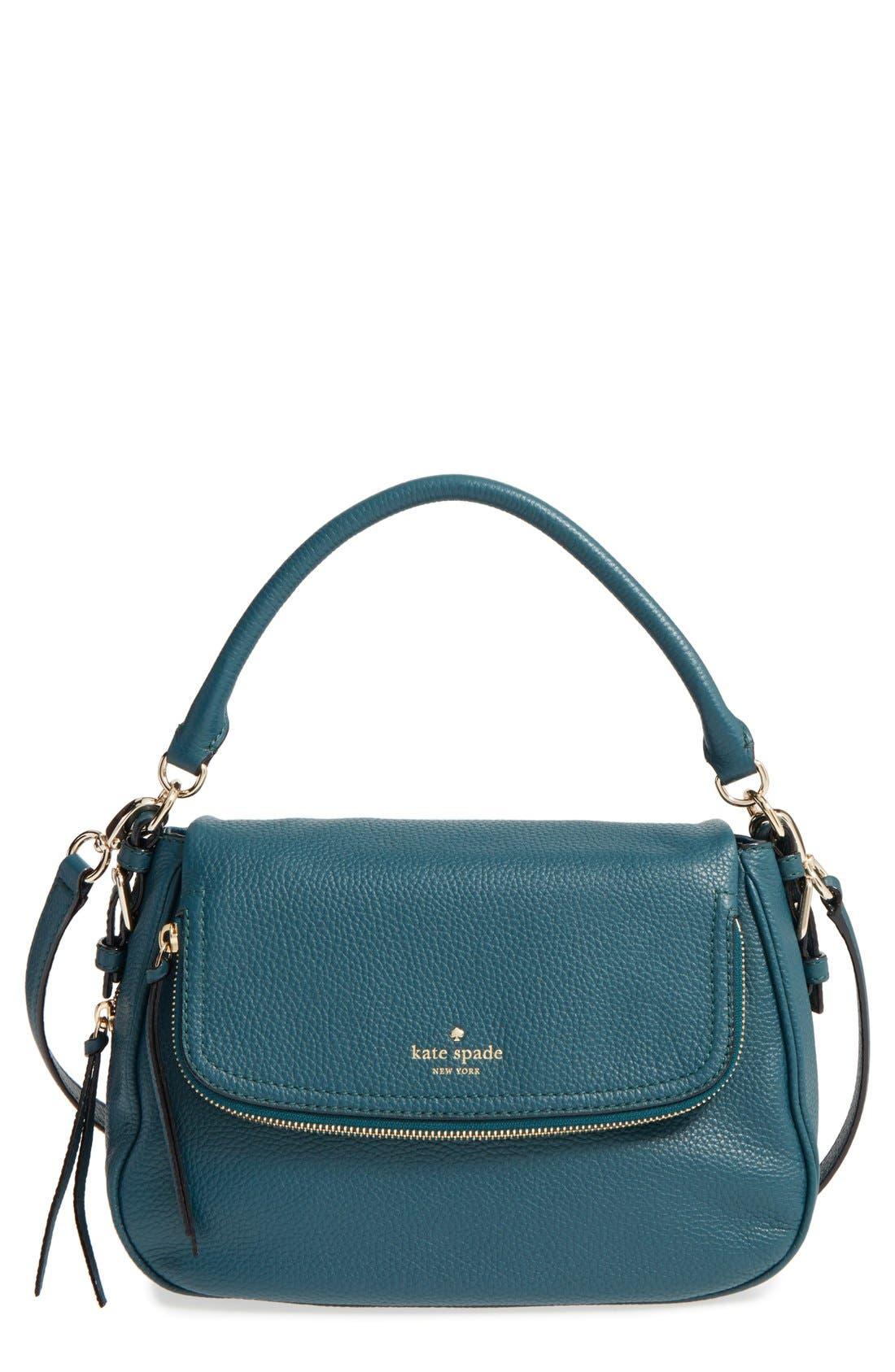 cobble hill - deva leather crossbody bag,                             Main thumbnail 5, color,