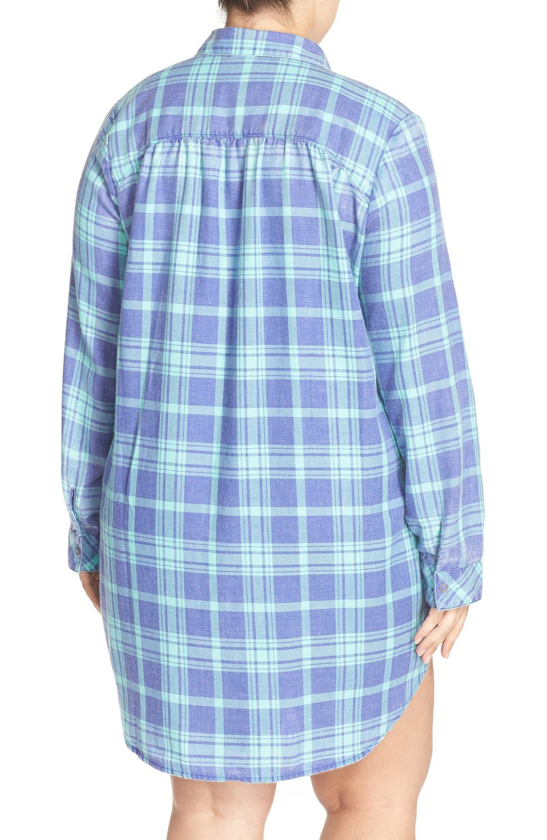 Plaid Night Shirt,                             Alternate thumbnail 11, color,