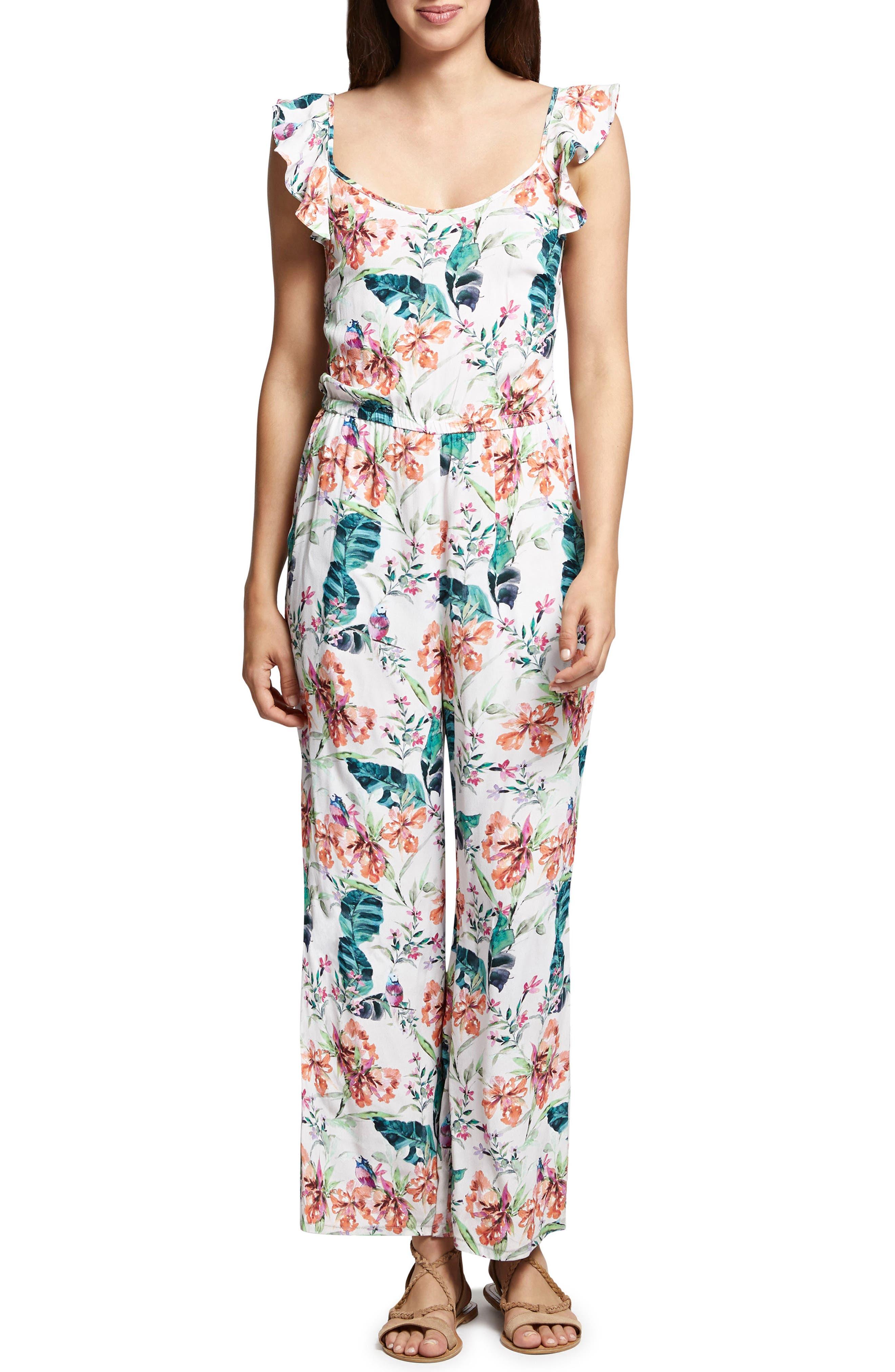 Freya Print Jumpsuit,                         Main,                         color,
