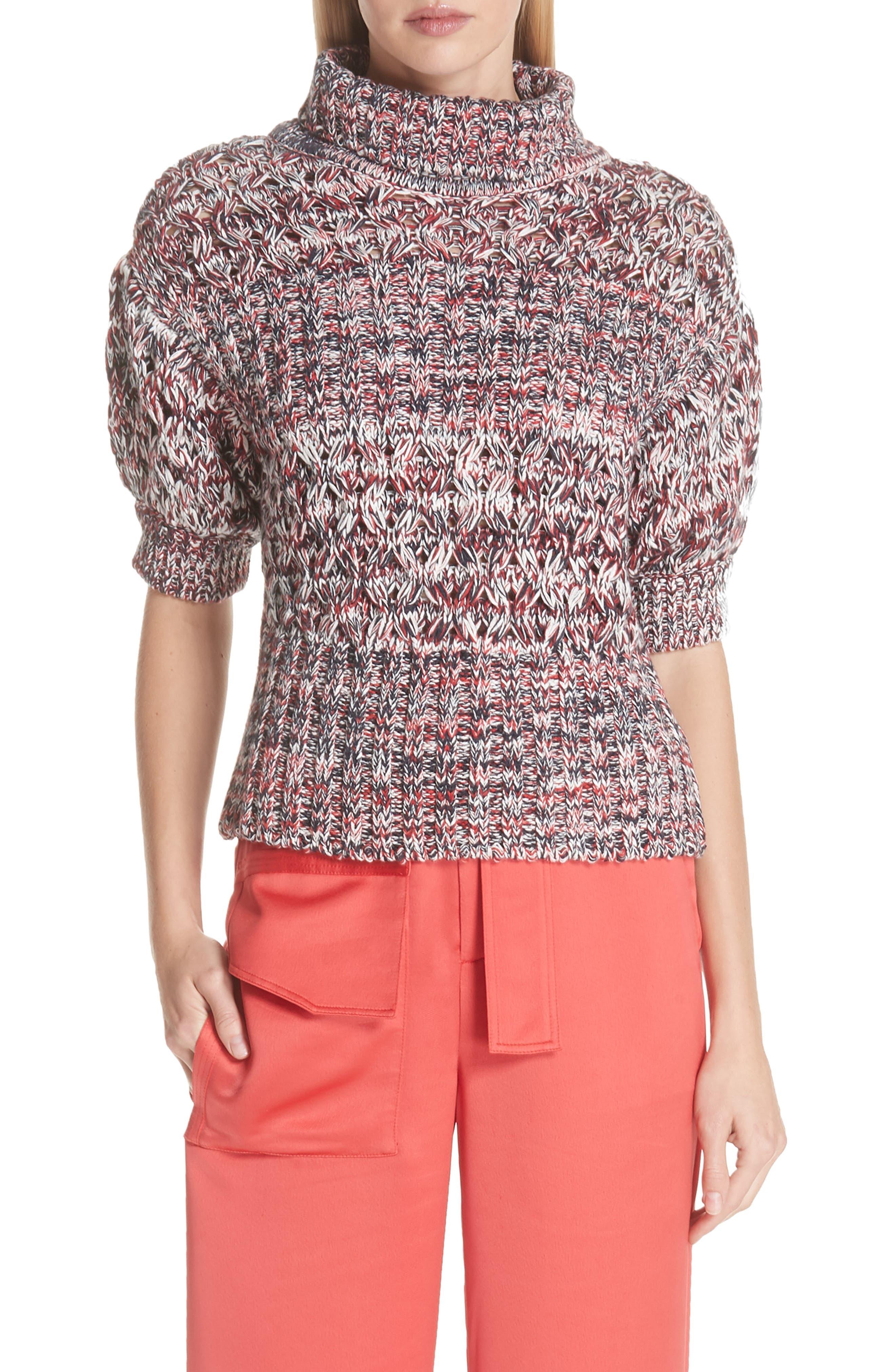 Mélange Cotton & Wool Sweater,                             Main thumbnail 1, color,                             600