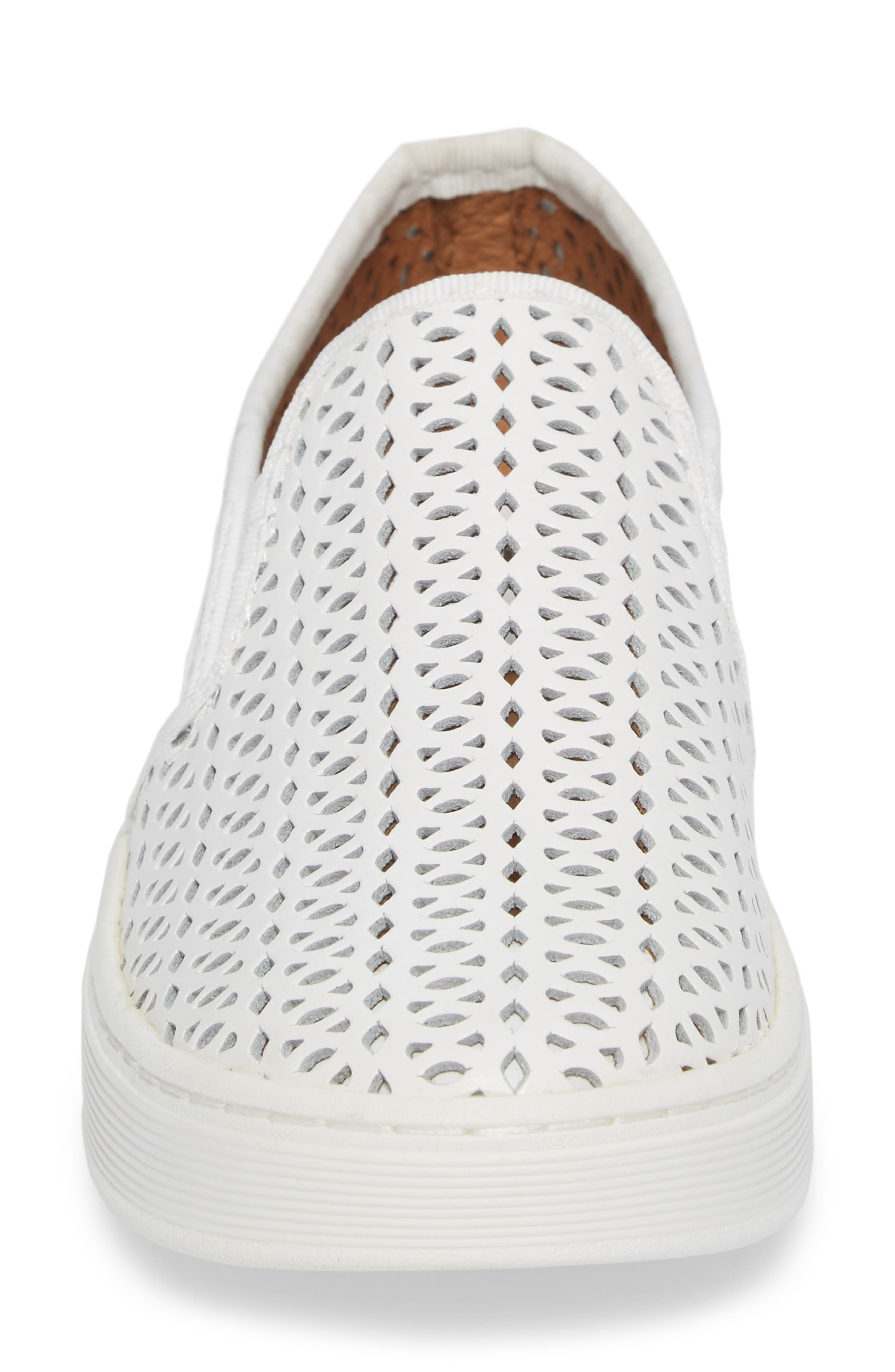 Somers II Slip-On Sneaker,                             Alternate thumbnail 4, color,                             WHITE LEATHER