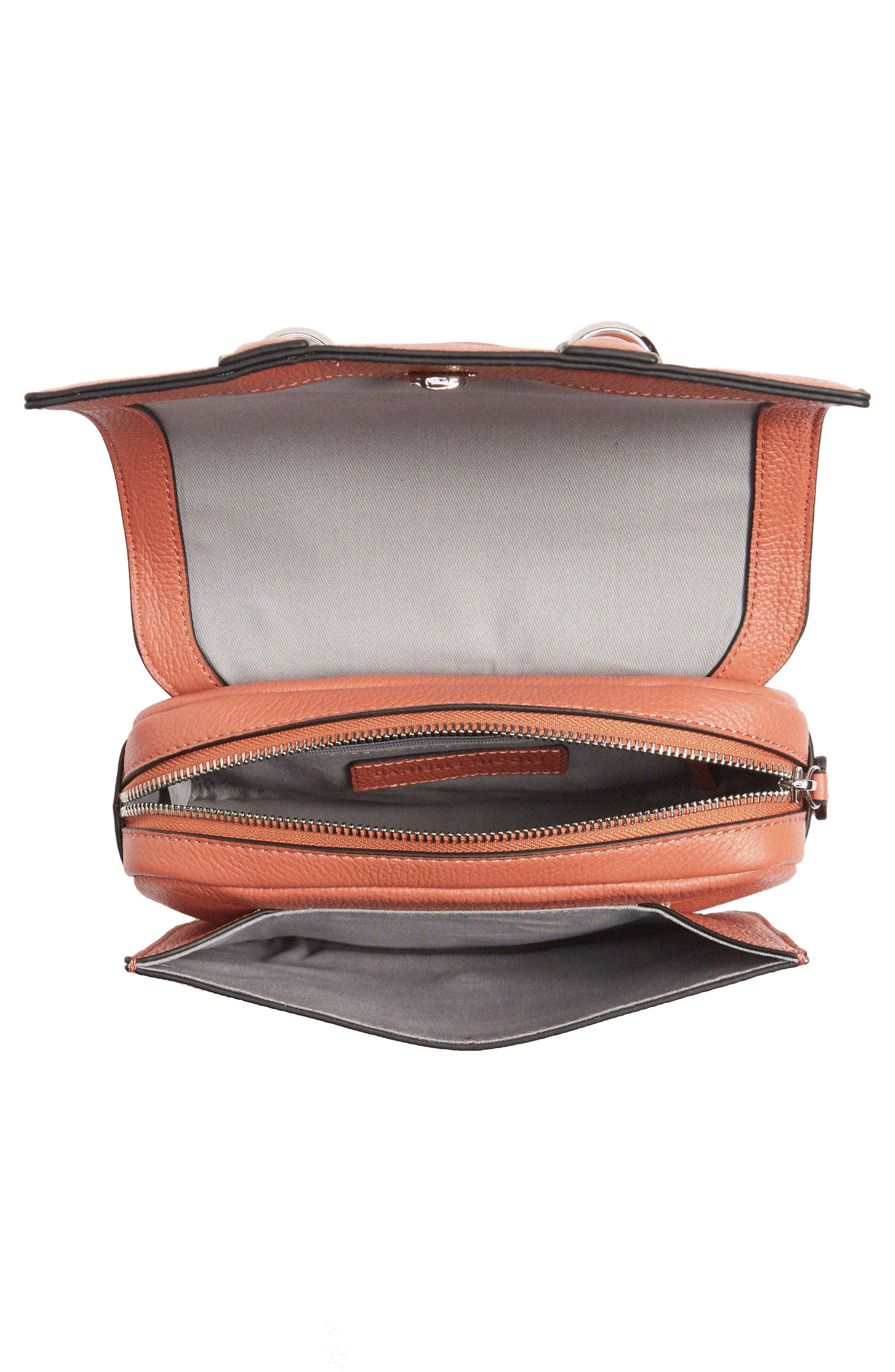 DANIELLE NICOLE,                             Kinsley Leather Crossbody Bag,                             Alternate thumbnail 4, color,                             600