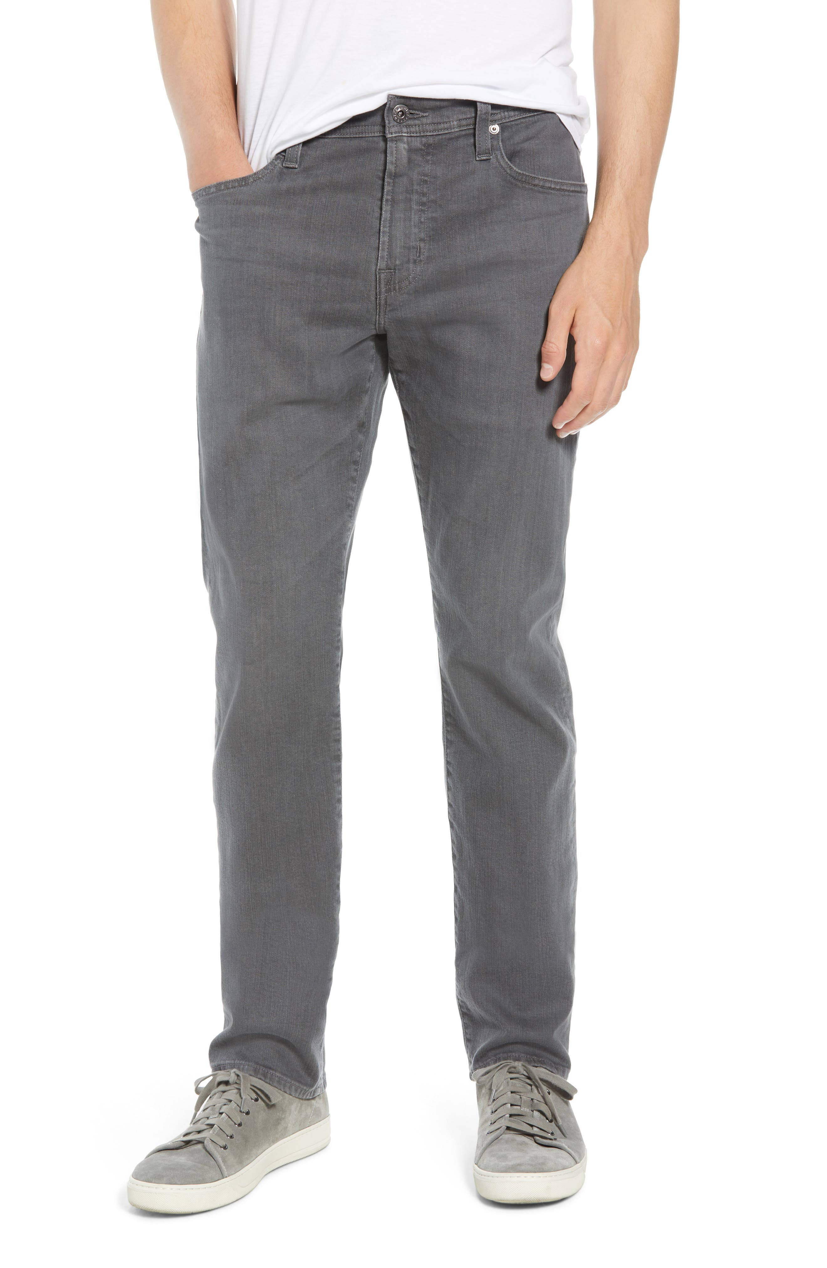 Everett Slim Straight Leg Jeans,                         Main,                         color, PASSENGER