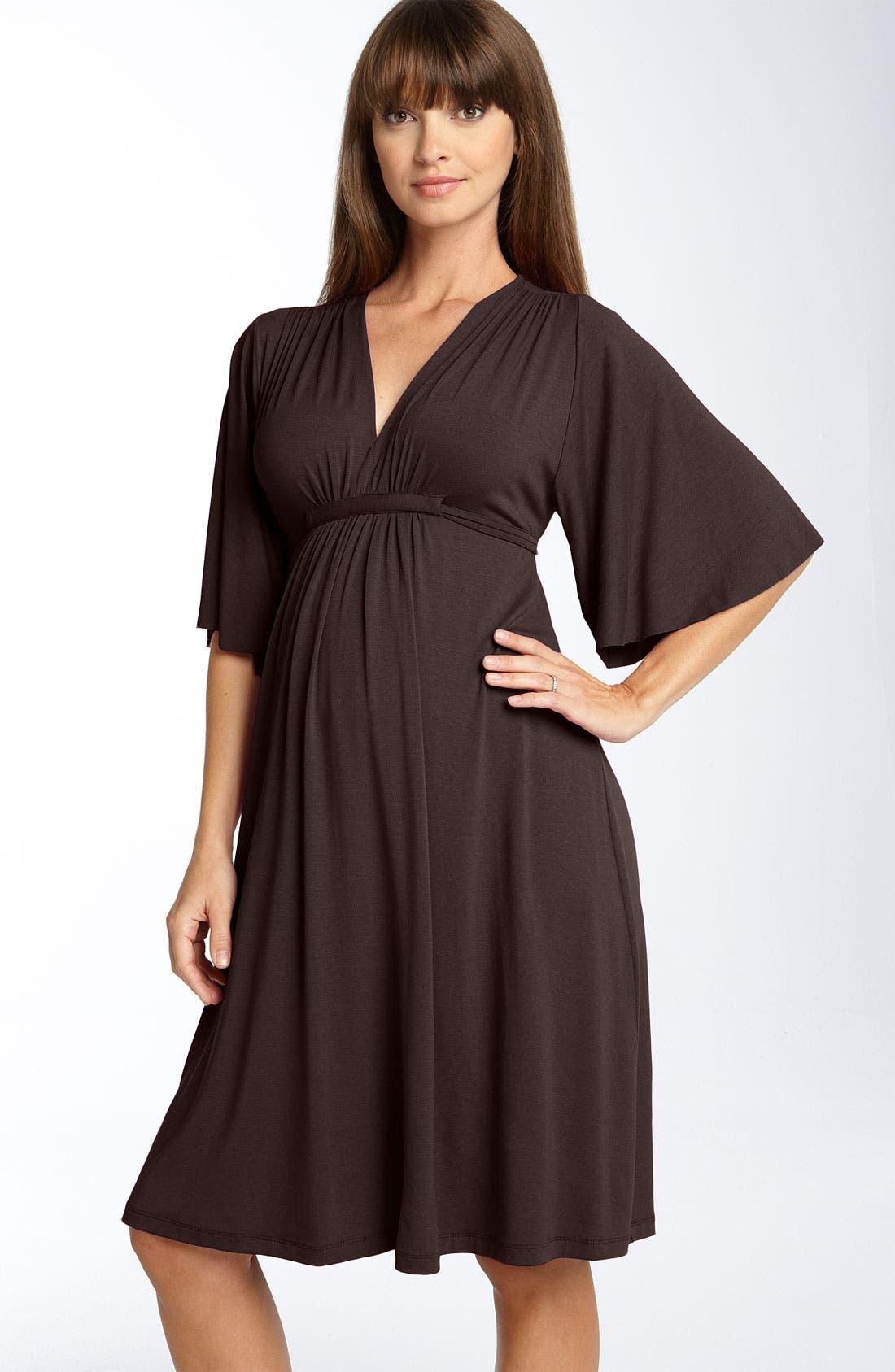 Empire Waist Maternity Dress,                             Main thumbnail 1, color,                             200