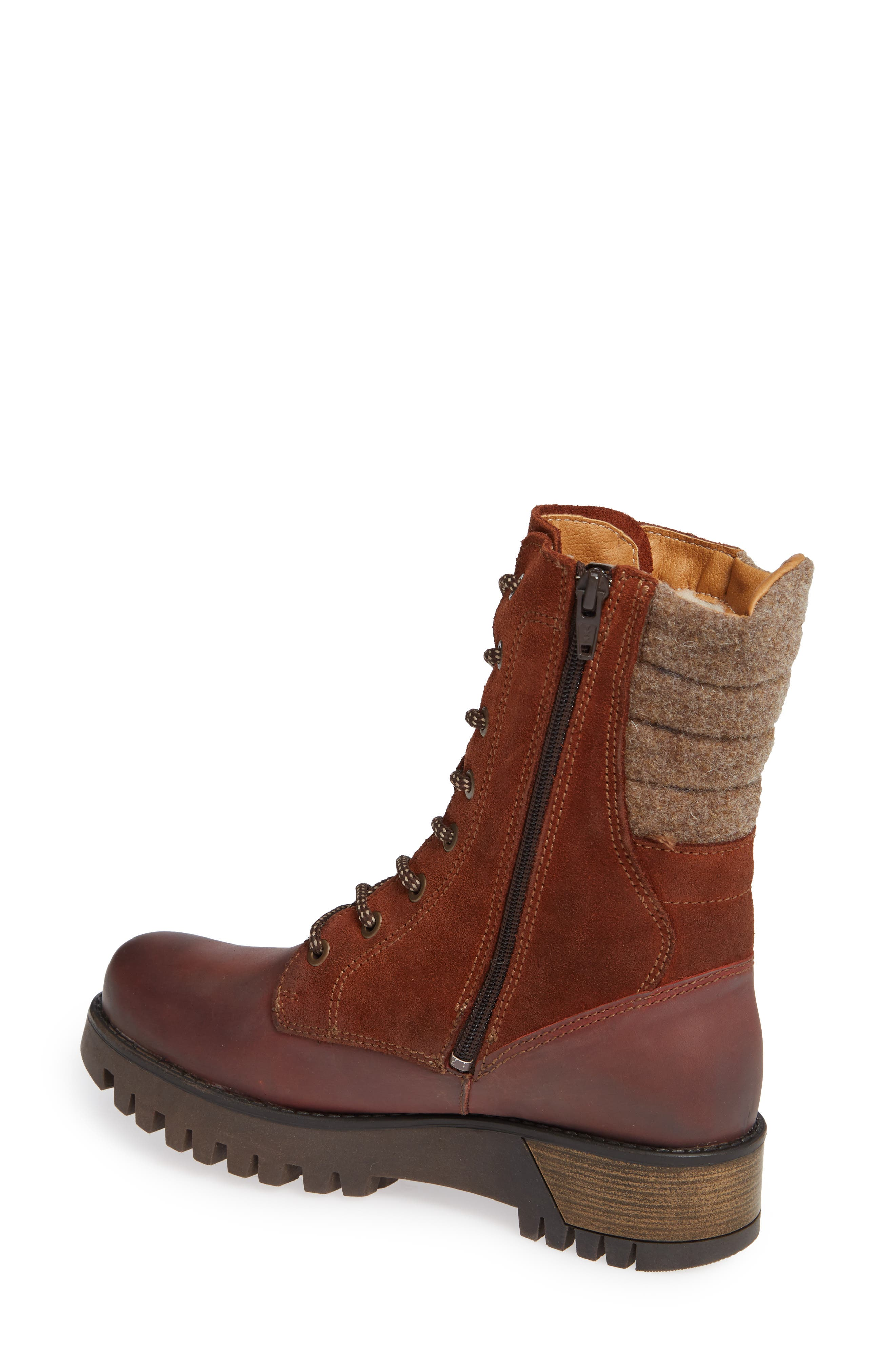 BOS. & CO.,                             Guide Waterproof & Insulated Hiking Boot,                             Alternate thumbnail 2, color,                             RUST SUEDE