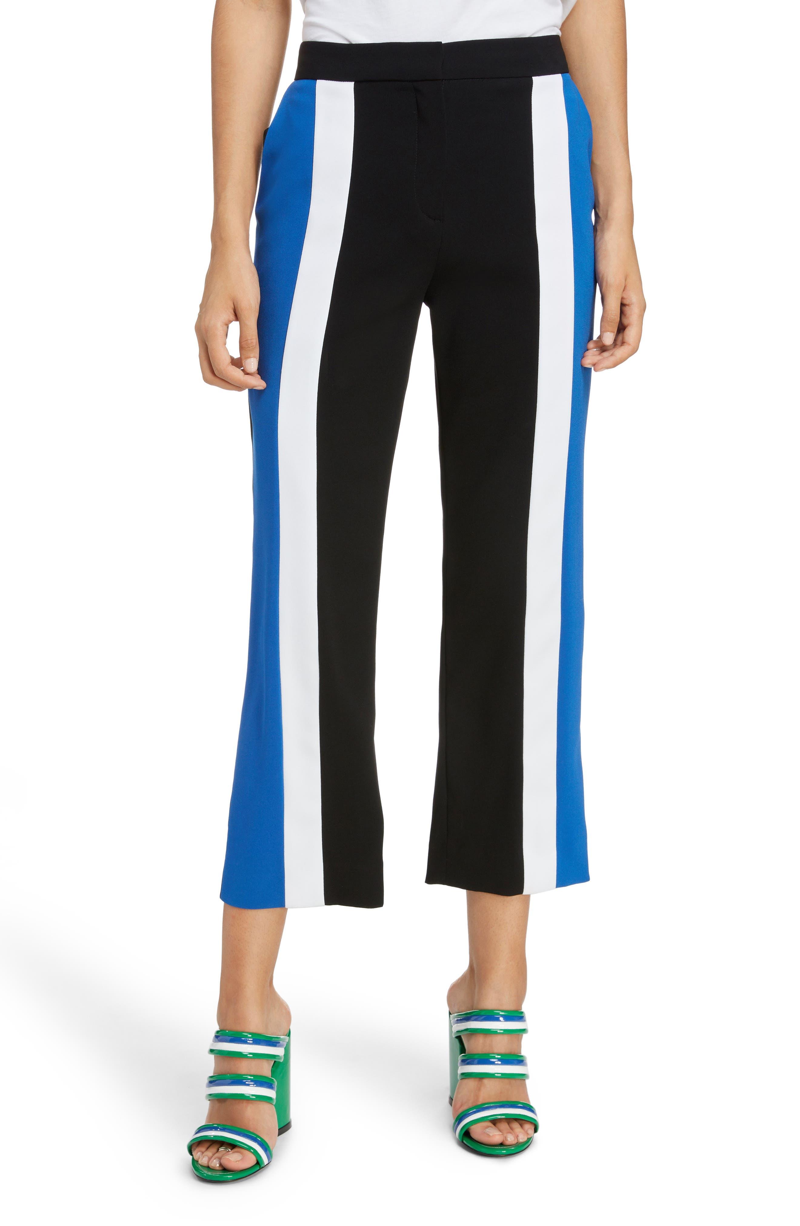 Kenzo Colorblock Crop Flare Pants, US / 40 FR - Black