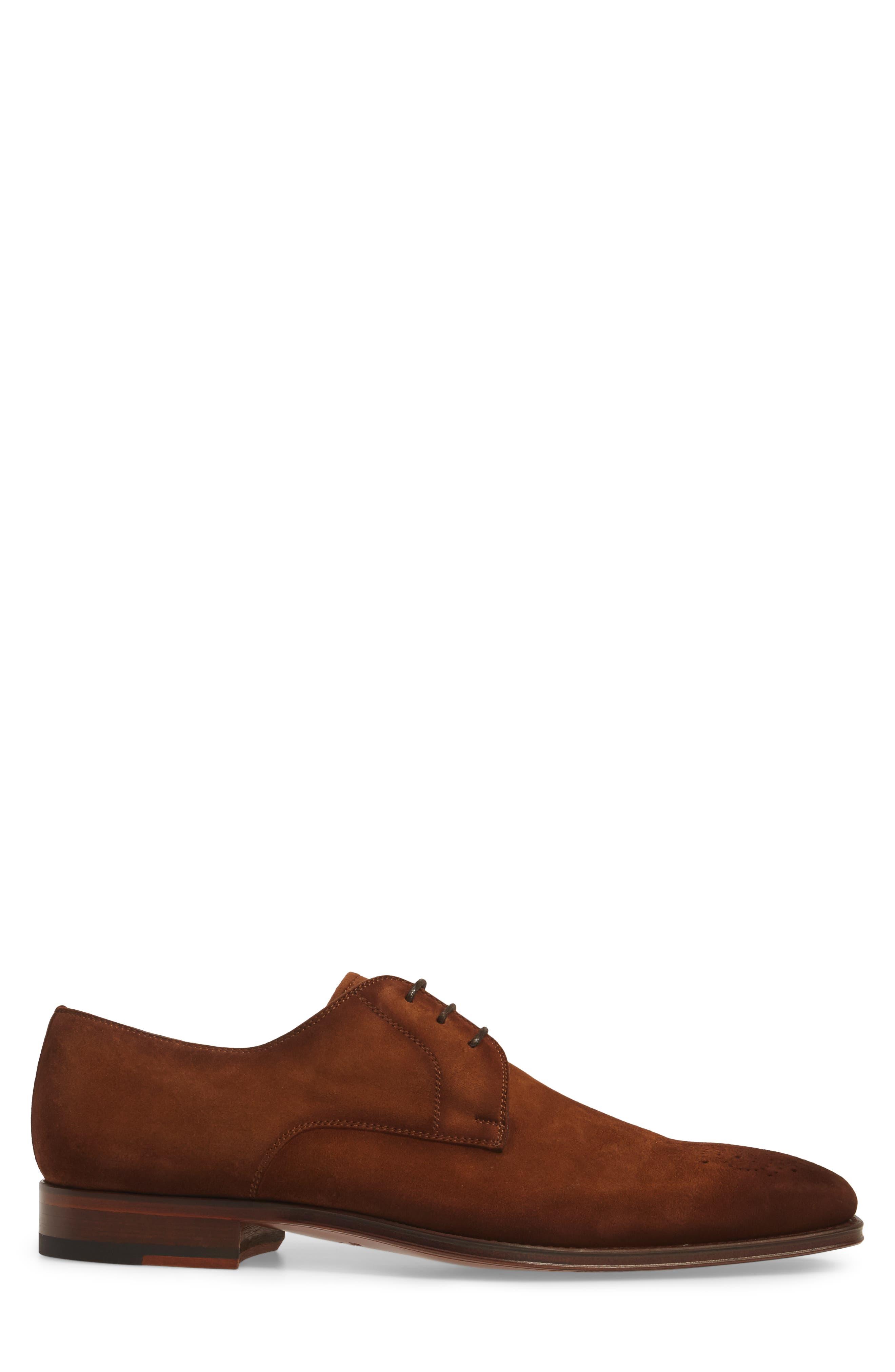 Ezekiel Plain Toe Derby,                             Alternate thumbnail 3, color,                             COGNAC LEATHER