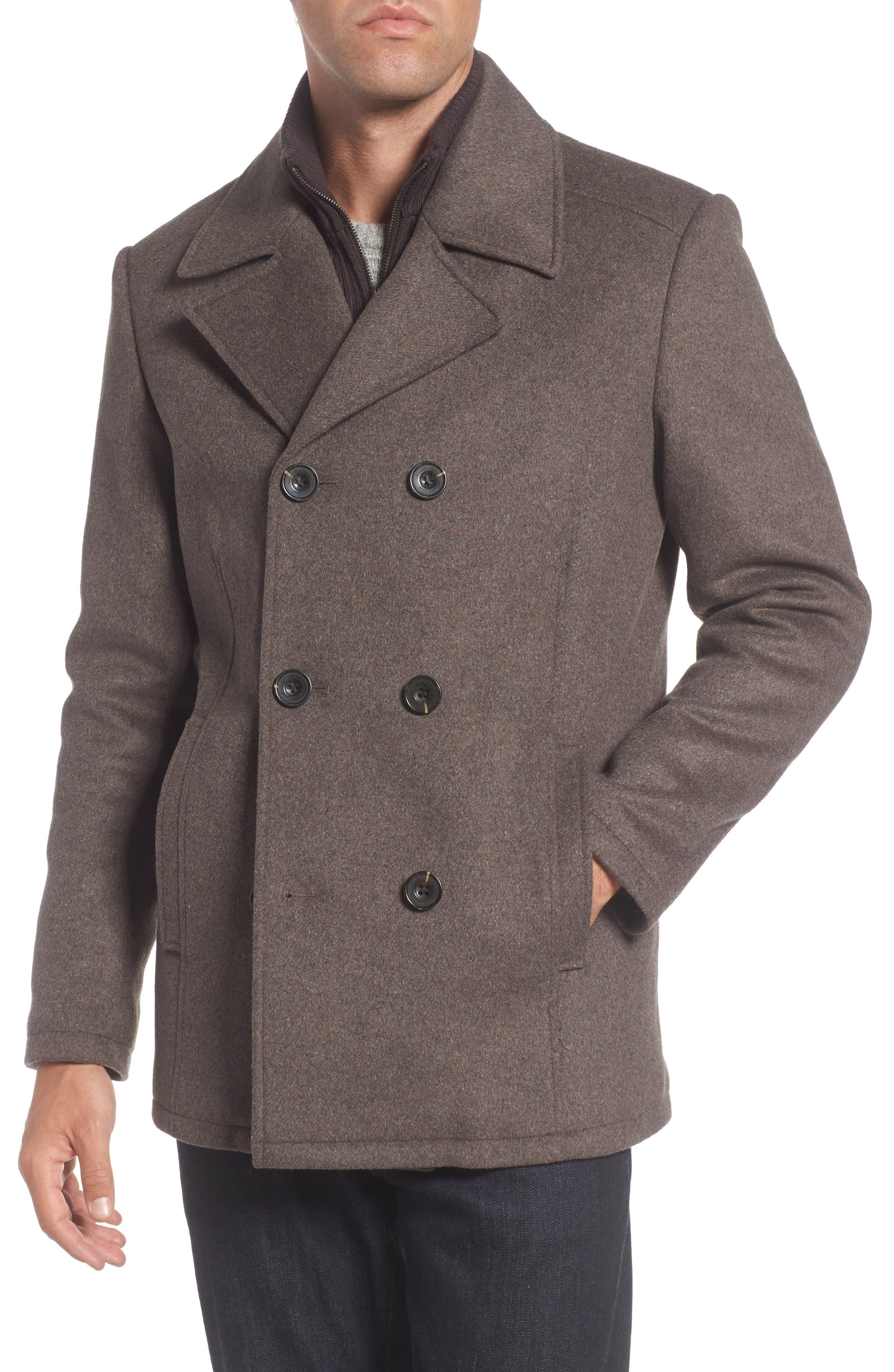 Wool Blend Peacoat,                         Main,                         color, 213