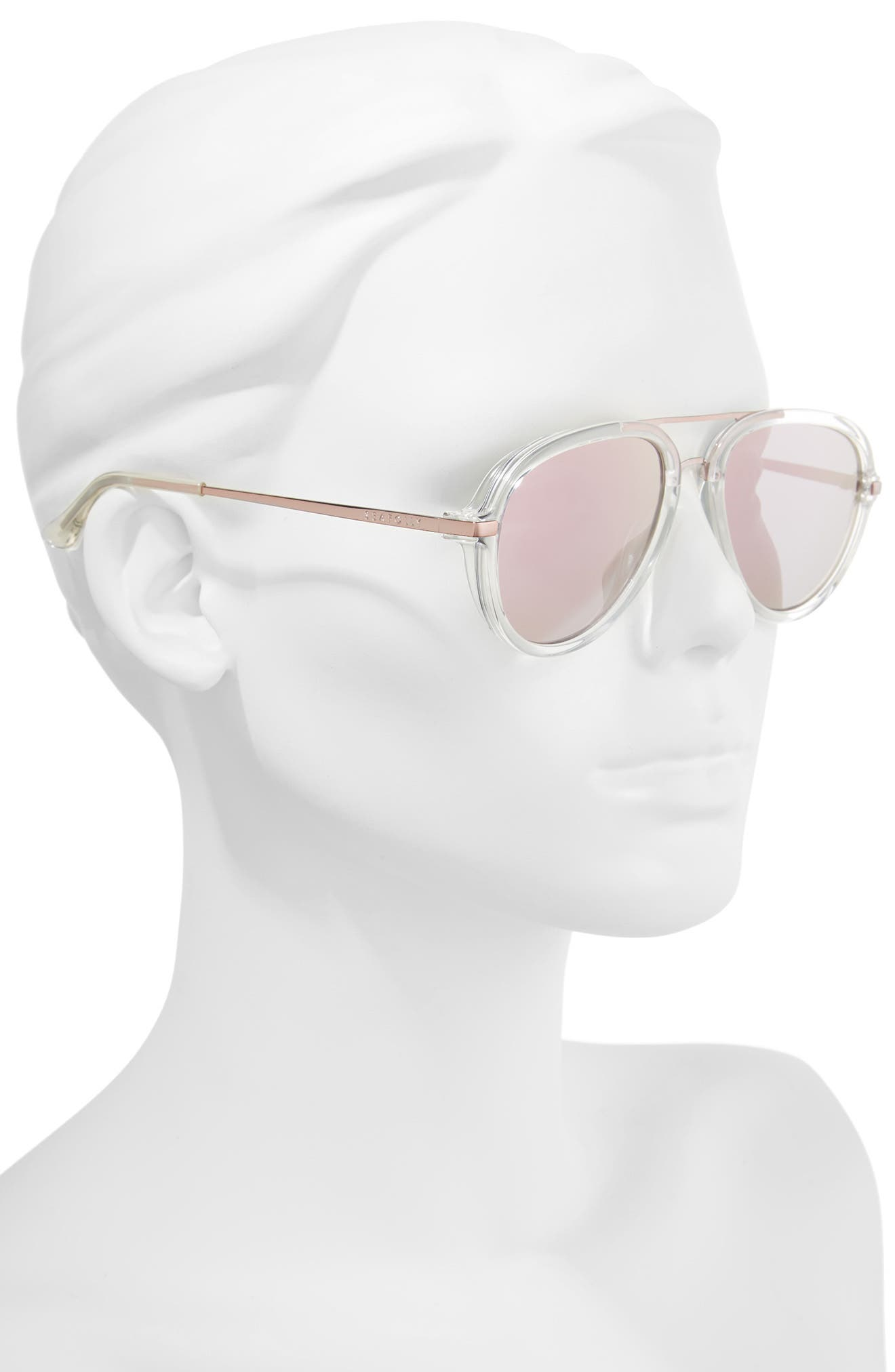 Byron Bay 54mm Aviator Sunglasses,                             Alternate thumbnail 3, color,