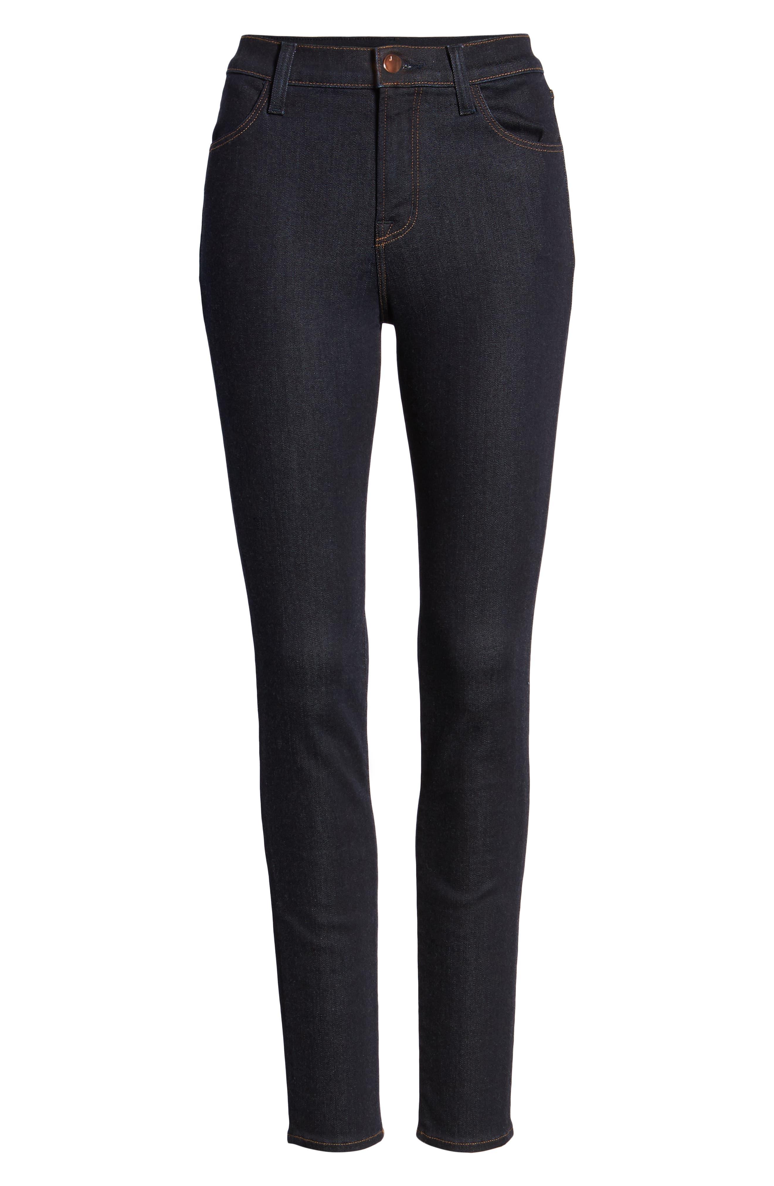 Maria High Waist Super Skinny Jeans,                             Alternate thumbnail 7, color,                             DARK TWILIGHT