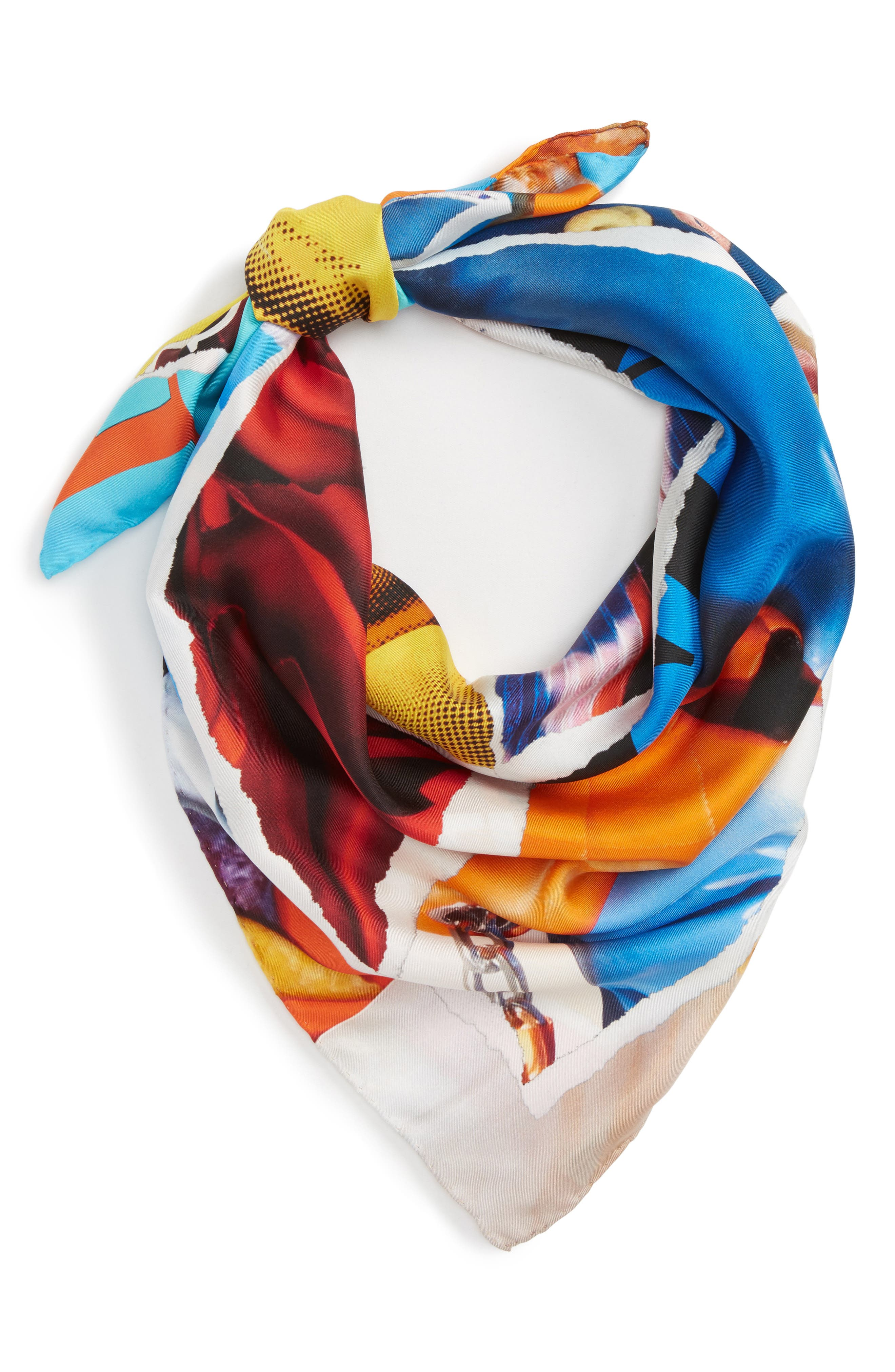 Silk Scarf,                             Alternate thumbnail 3, color,                             001