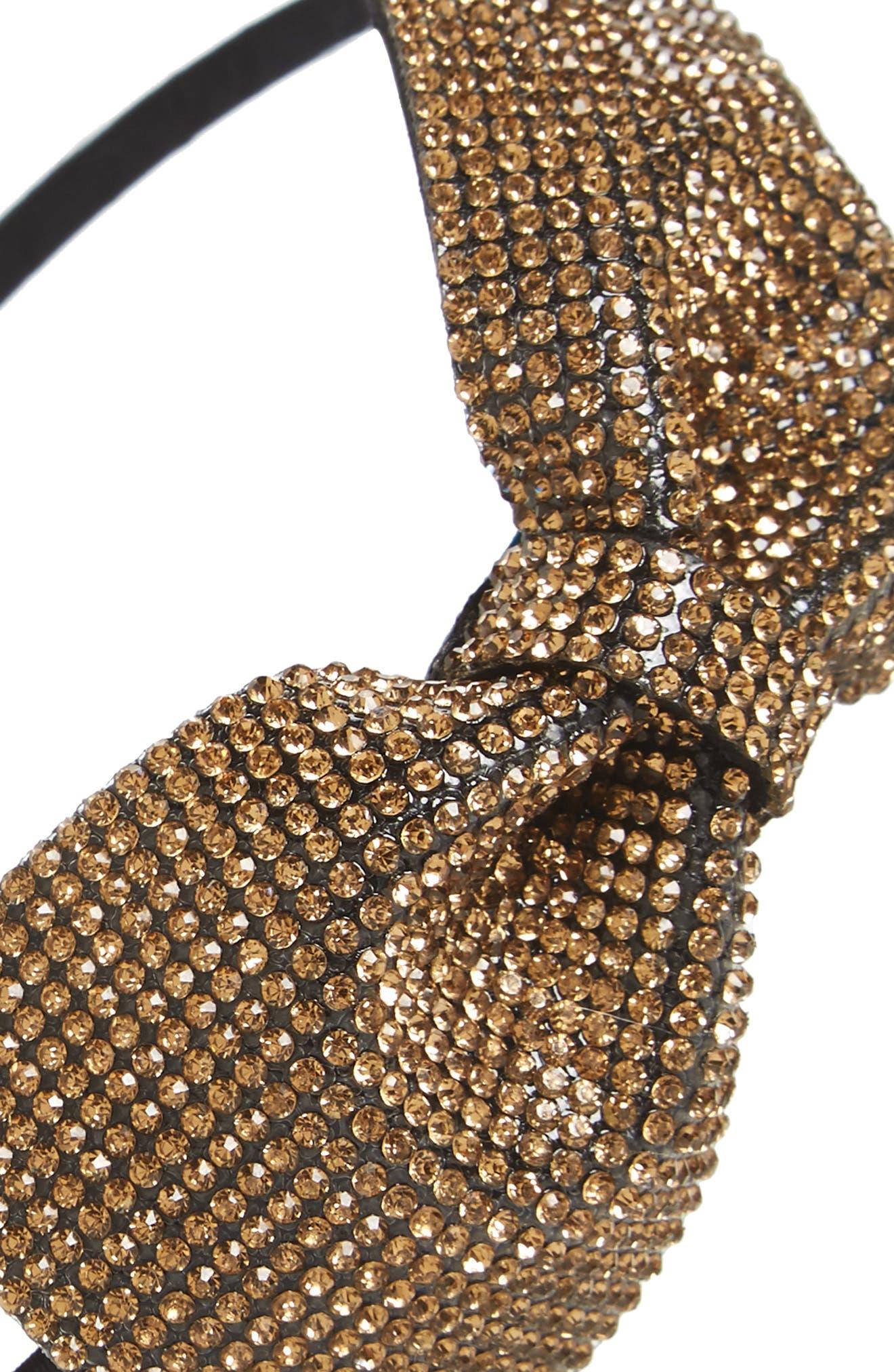 Sparkle Bow Headband,                             Alternate thumbnail 6, color,