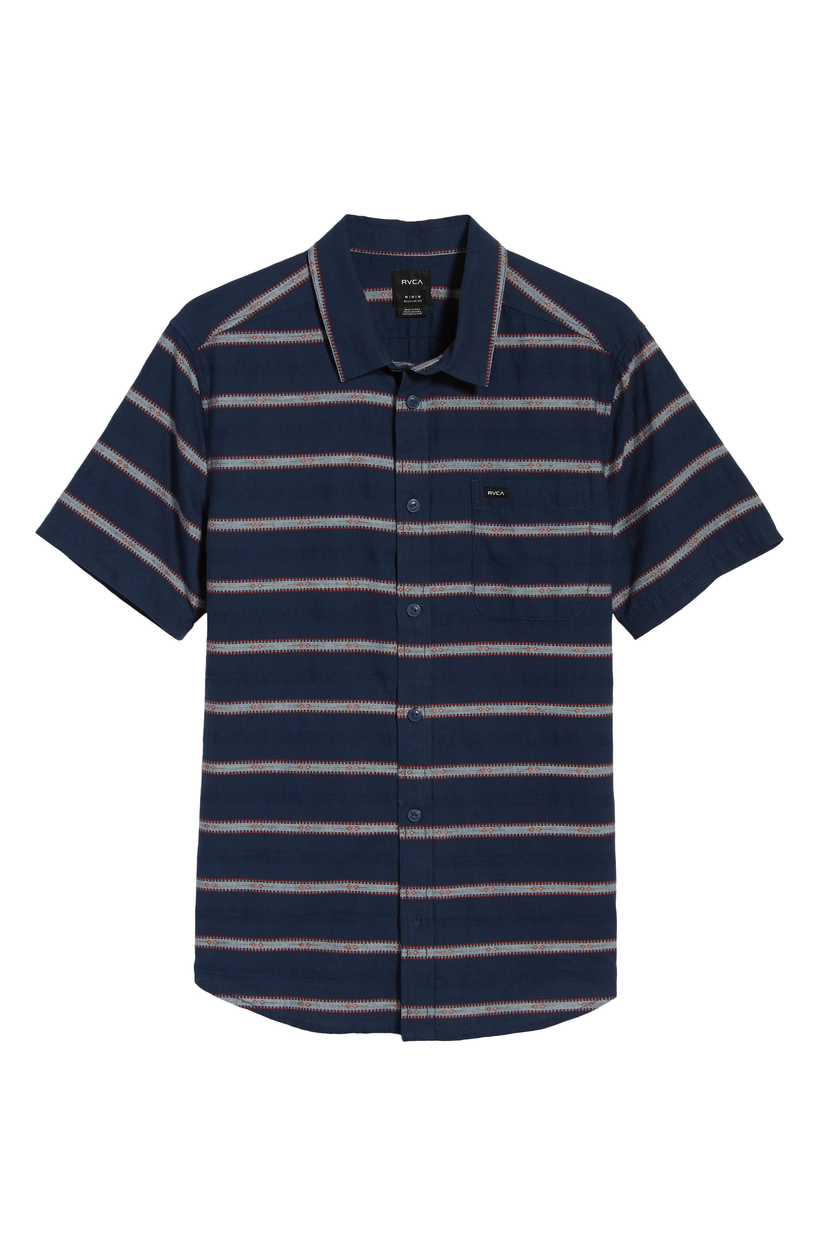 Outer Sunset Woven Shirt,                             Alternate thumbnail 6, color,                             SEATTLE BLUE