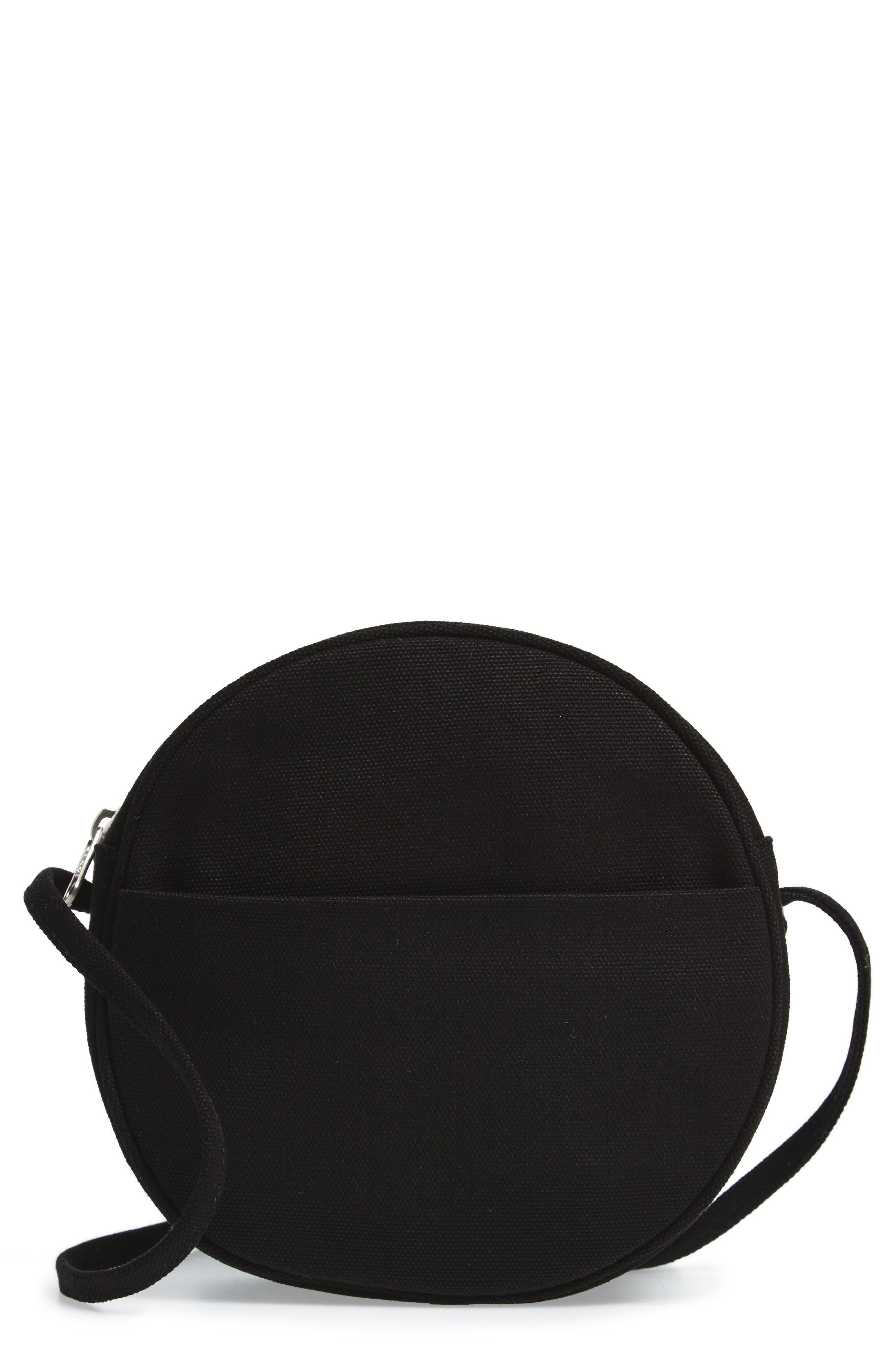 Small Canvas Shoulder Bag,                             Main thumbnail 1, color,                             001