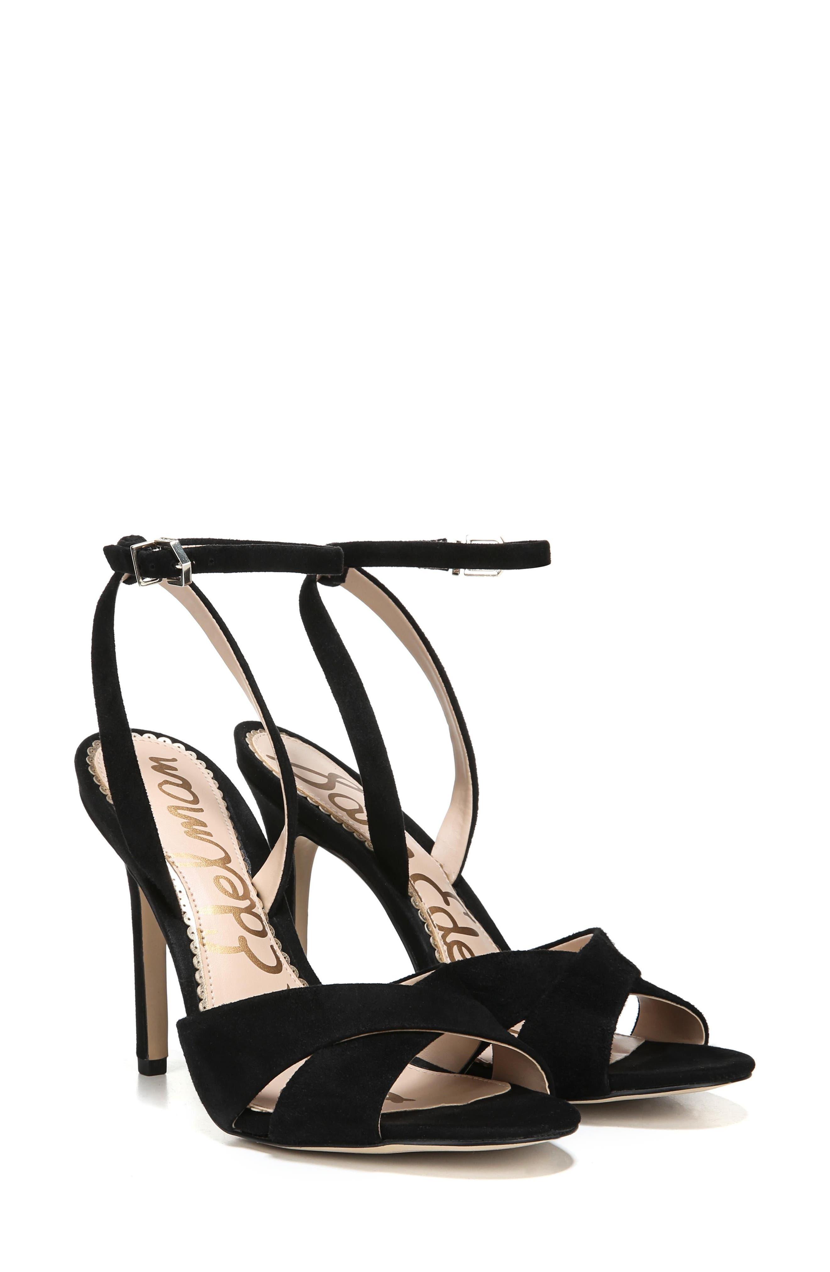 Aly Ankle Strap Sandal,                             Alternate thumbnail 8, color,                             001