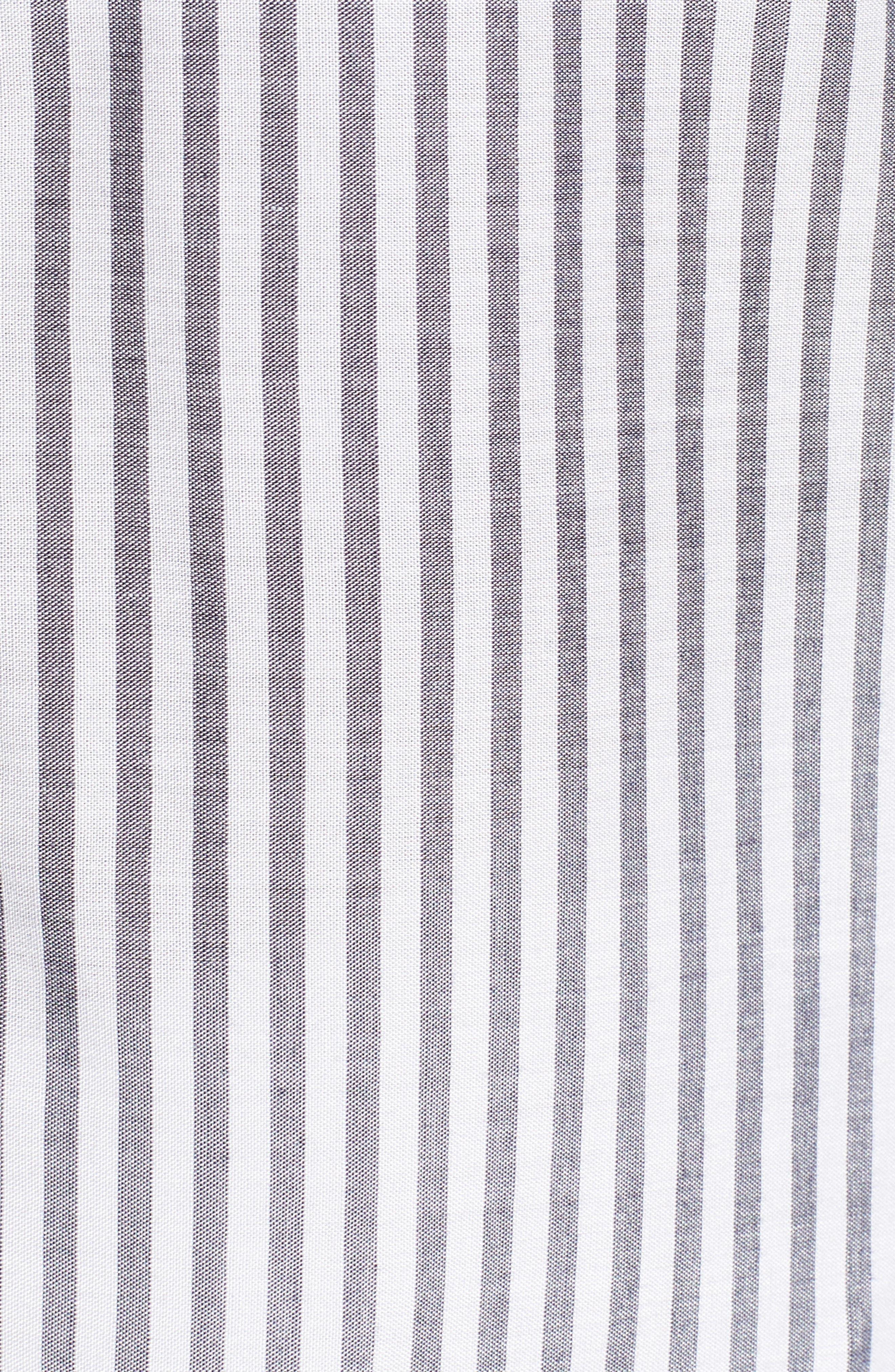 Drop Shoulder Flutter Sleeve Stripe Shirt,                             Alternate thumbnail 6, color,                             430
