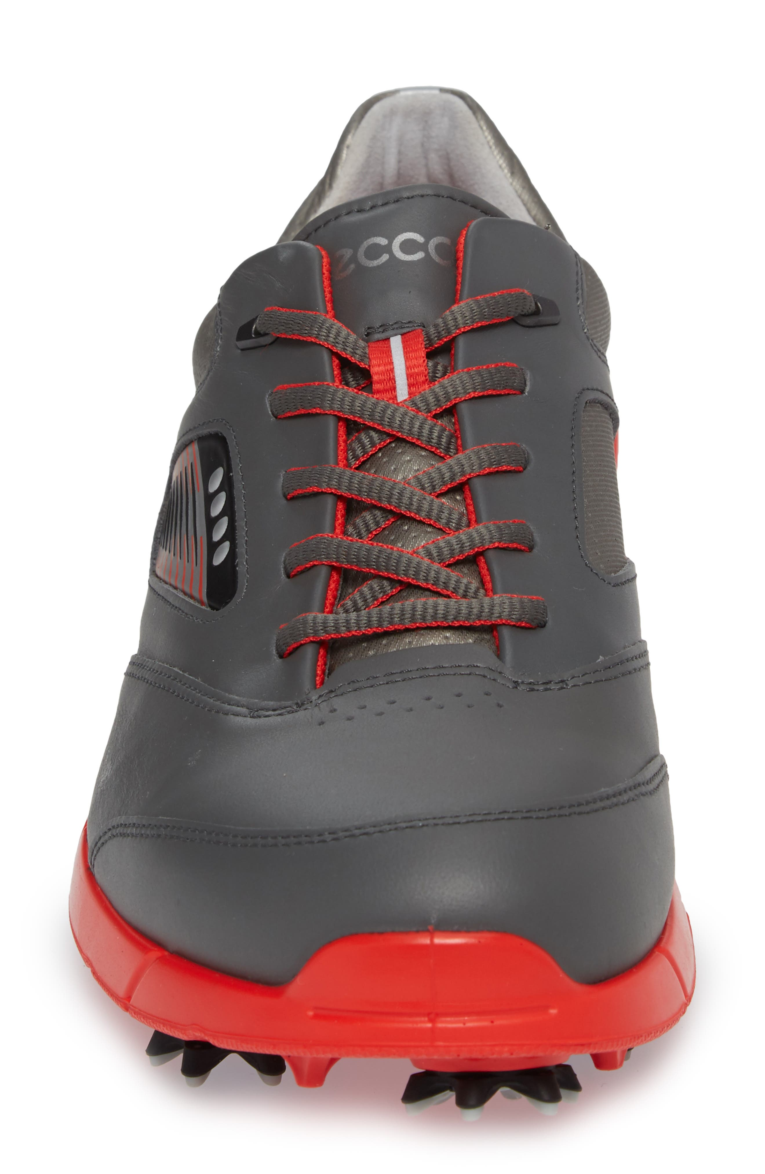 Base One Golf Shoe,                             Alternate thumbnail 4, color,                             BLACK/ SCARLET LEATHER