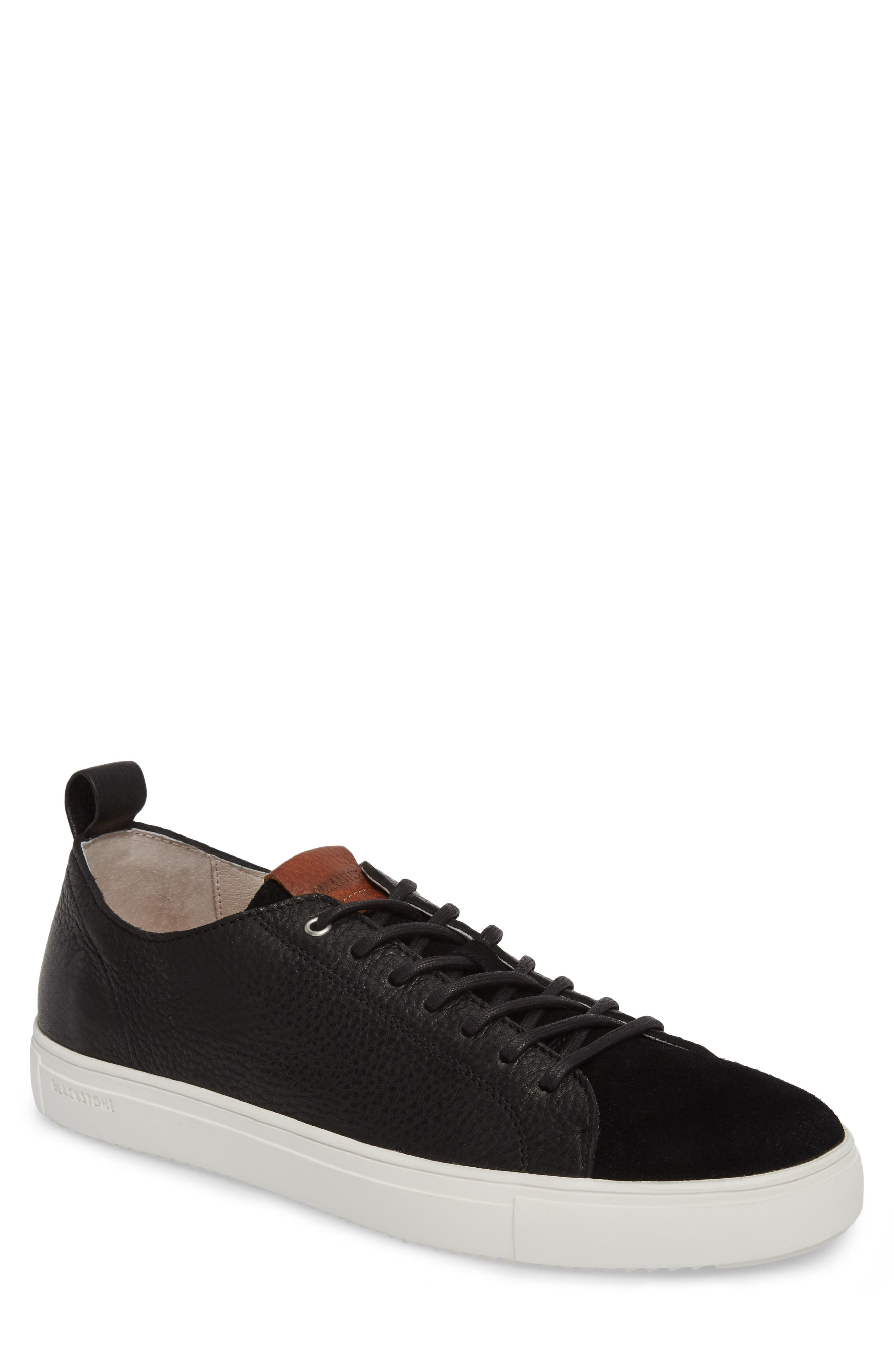 PM46 Low Top Sneaker,                         Main,                         color, BLACK LEATHER