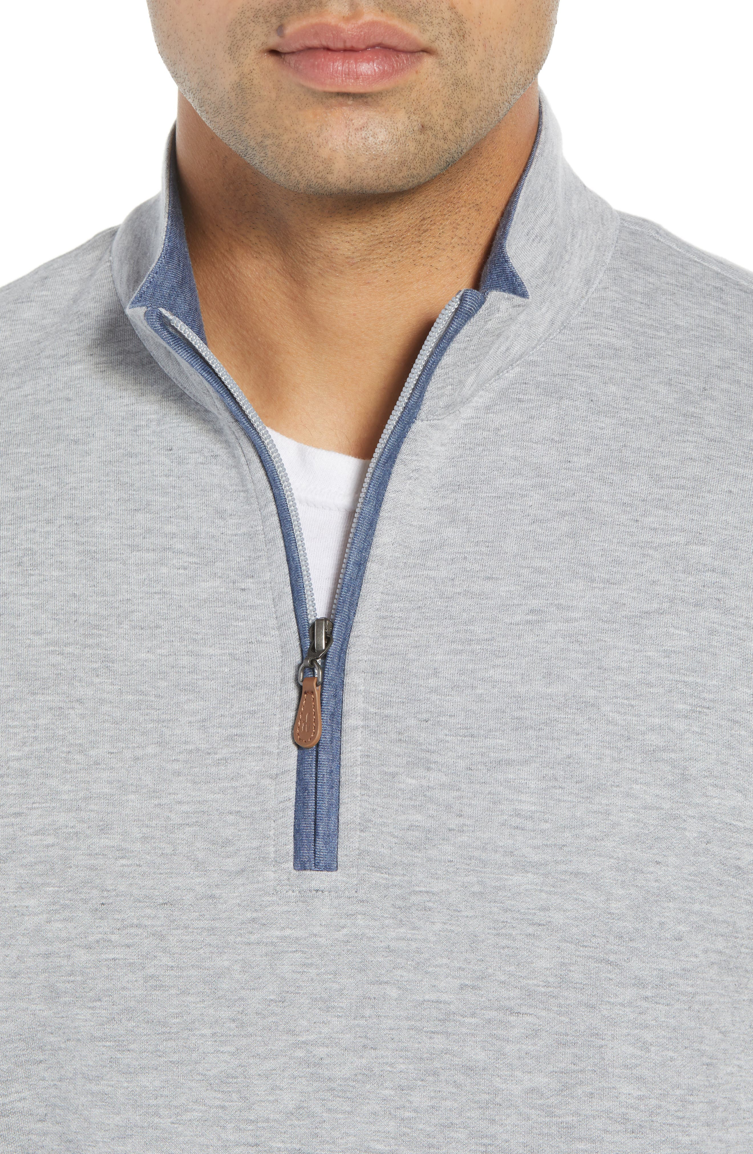 Sully Quarter Zip Pullover,                             Alternate thumbnail 4, color,                             LIGHT GREY