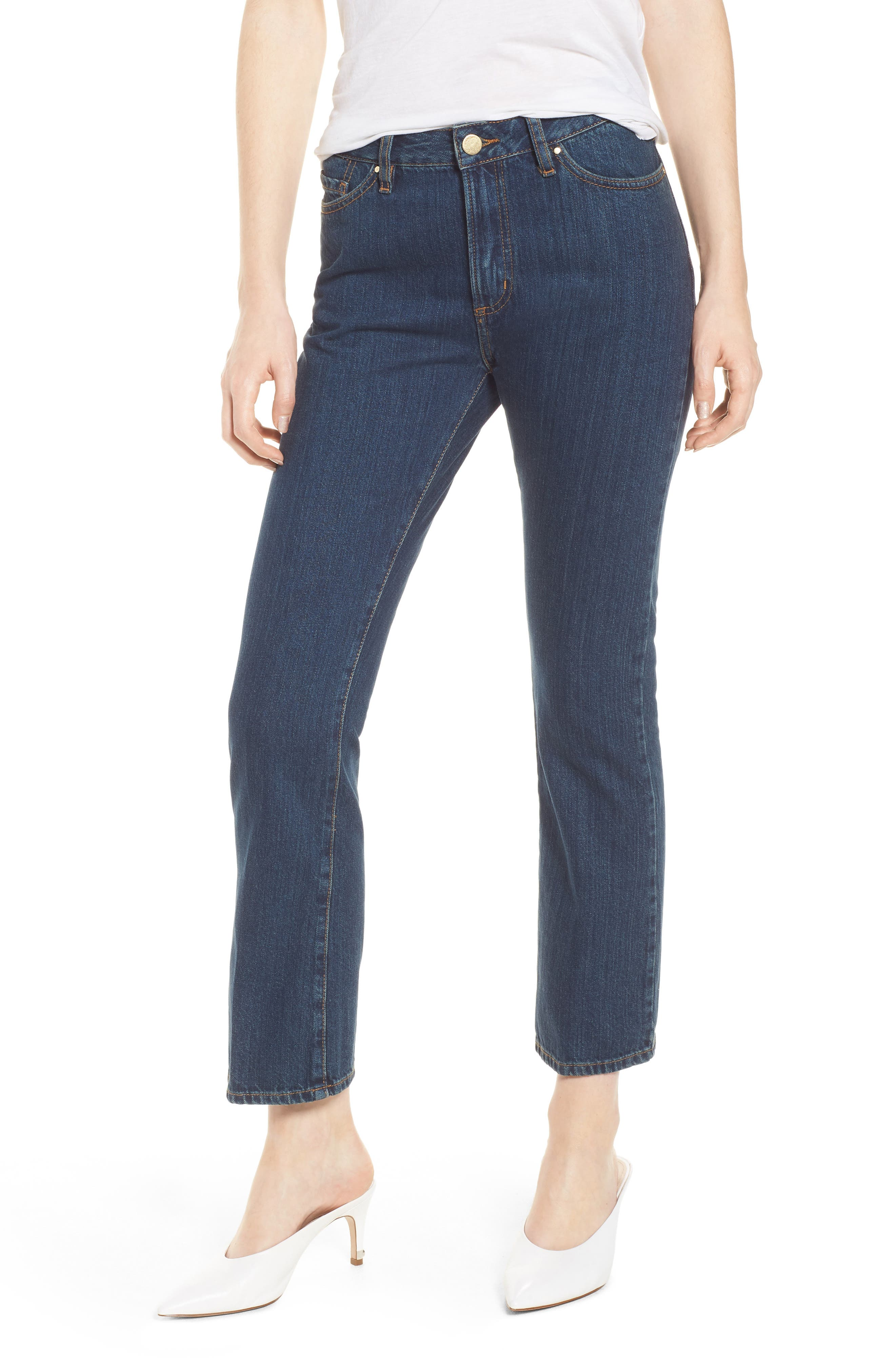 1970 The Flared Crop Jeans,                             Main thumbnail 3, color,